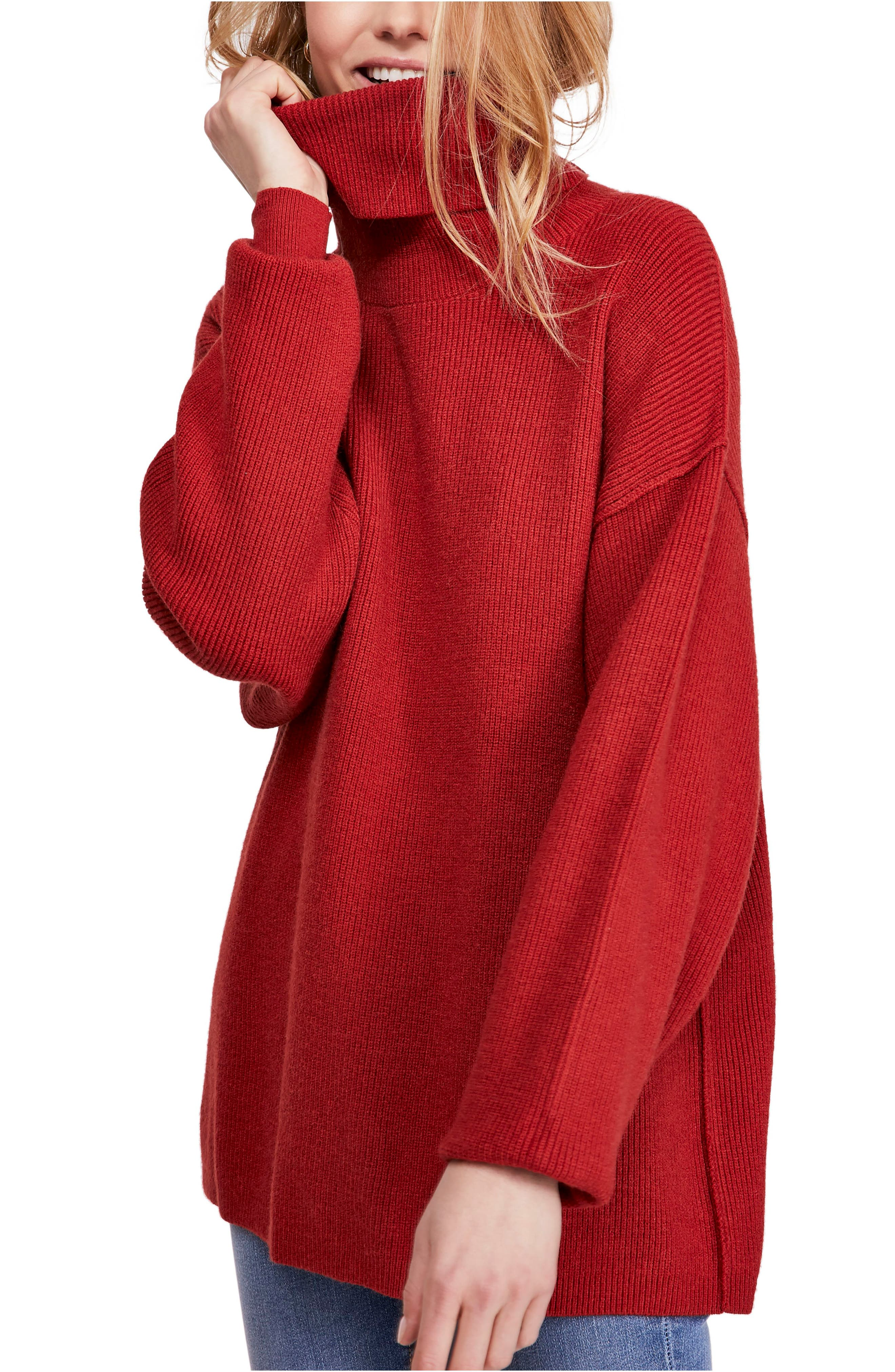 FREE PEOPLE, Softly Structured Knit Tunic, Main thumbnail 1, color, 600