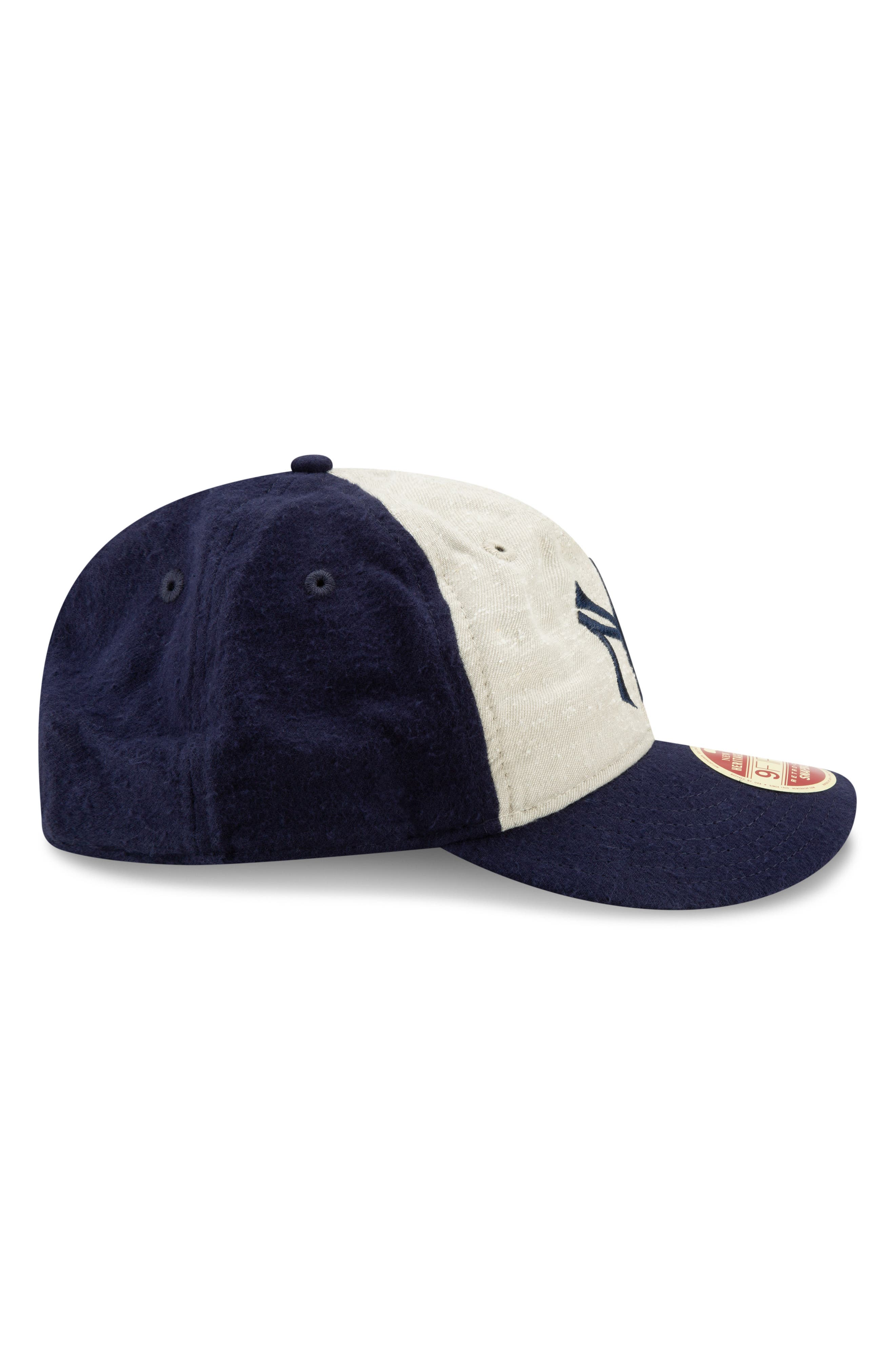 NEW ERA CAP, Vintage Slub Cap, Alternate thumbnail 5, color, YANKEES