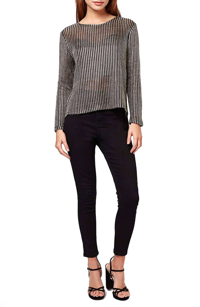 e168210b6a9 Topshop Chainmail Long Sleeve Top (Petite) | Nordstrom