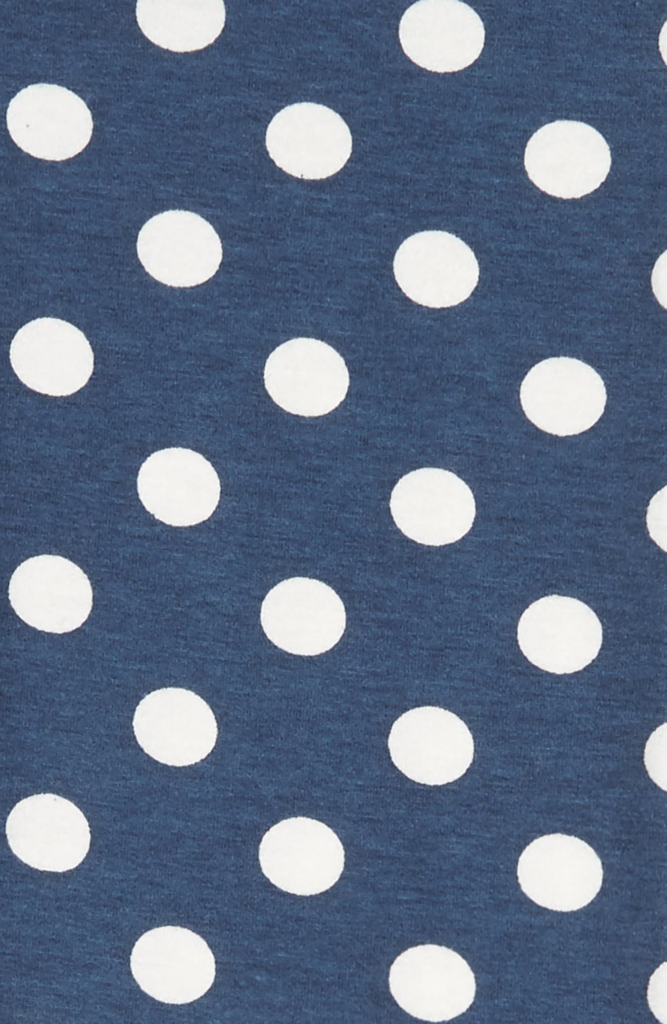 TUCKER + TATE, 'Core' Print Leggings, Alternate thumbnail 2, color, NAVY DENIM DOT