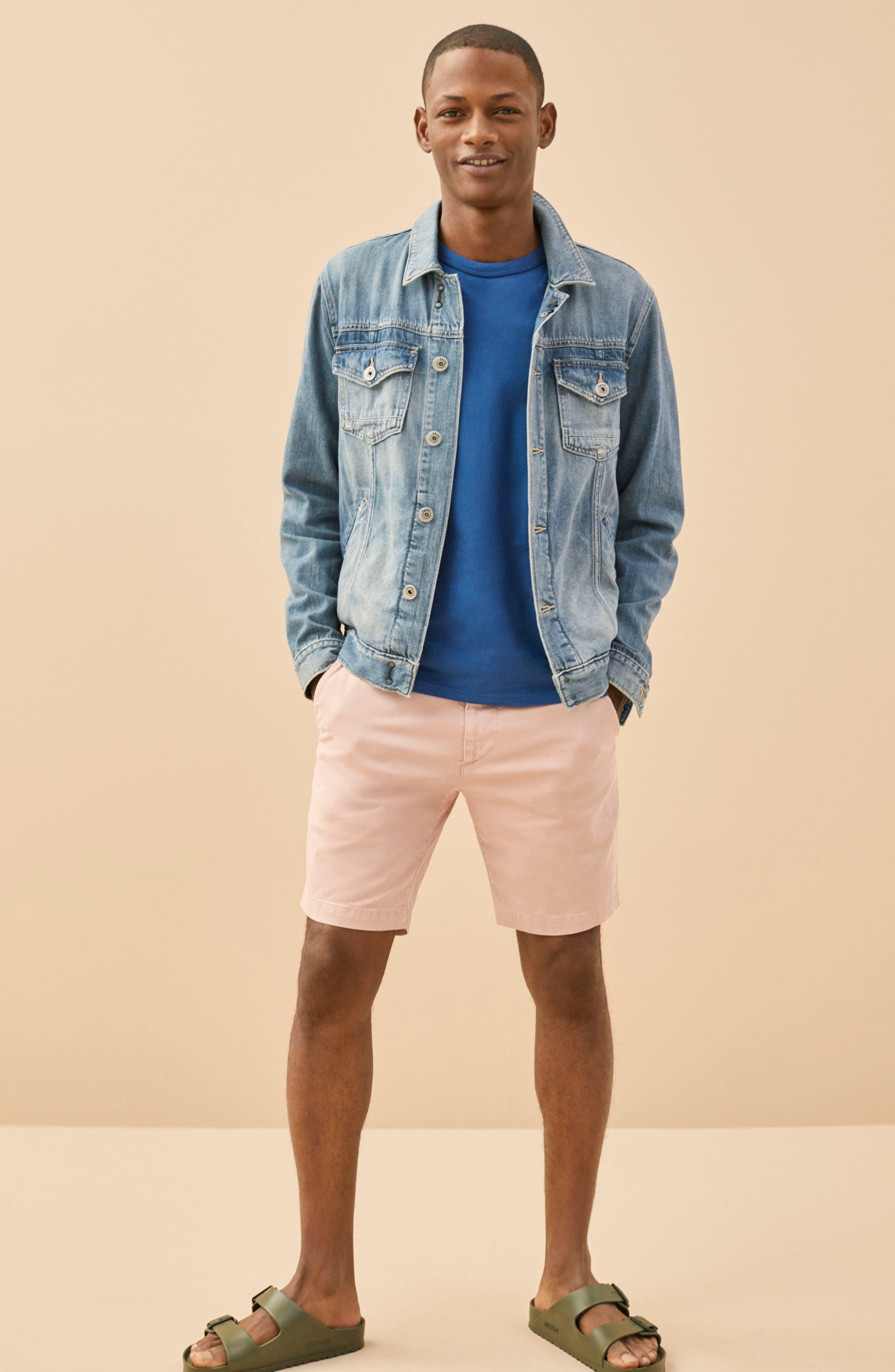 AG, Wanderer Modern Slim Fit Shorts, Alternate thumbnail 7, color, MORNING MIST