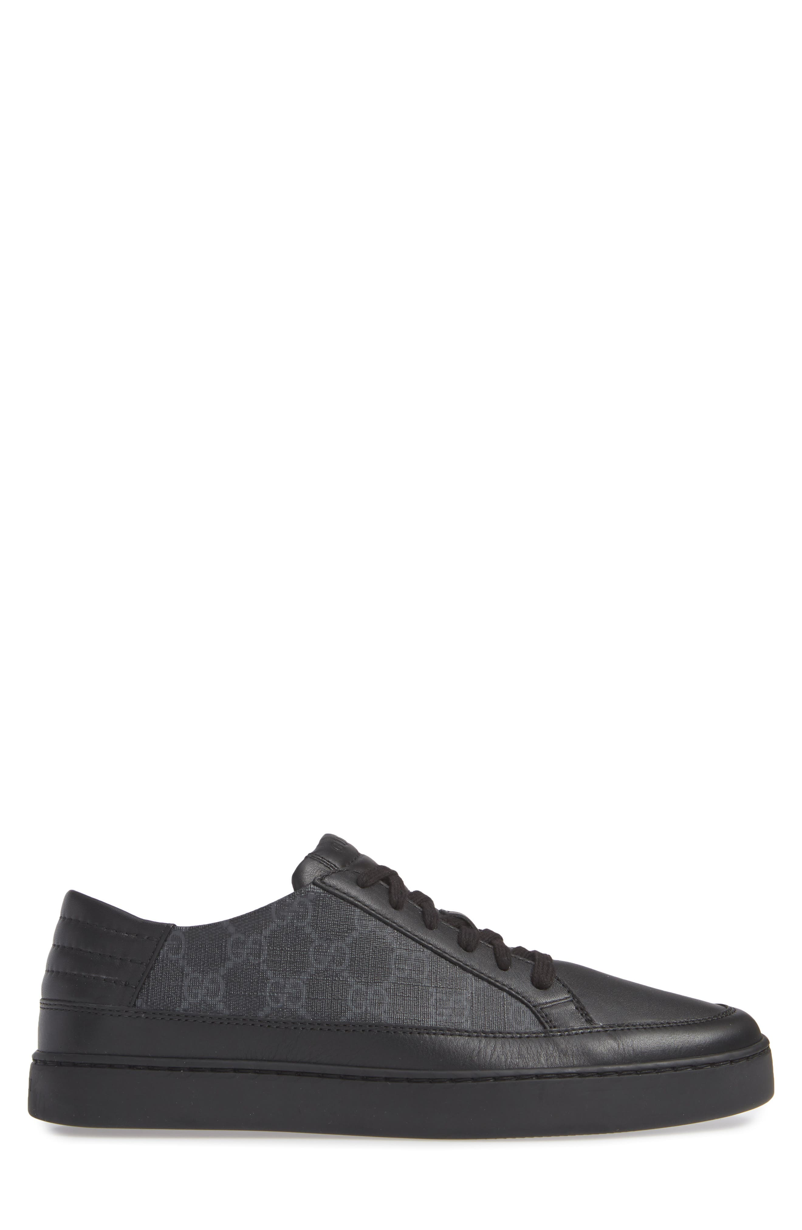 GUCCI, 'Common' Low-Top Sneaker, Alternate thumbnail 3, color, NERO/ BLACK