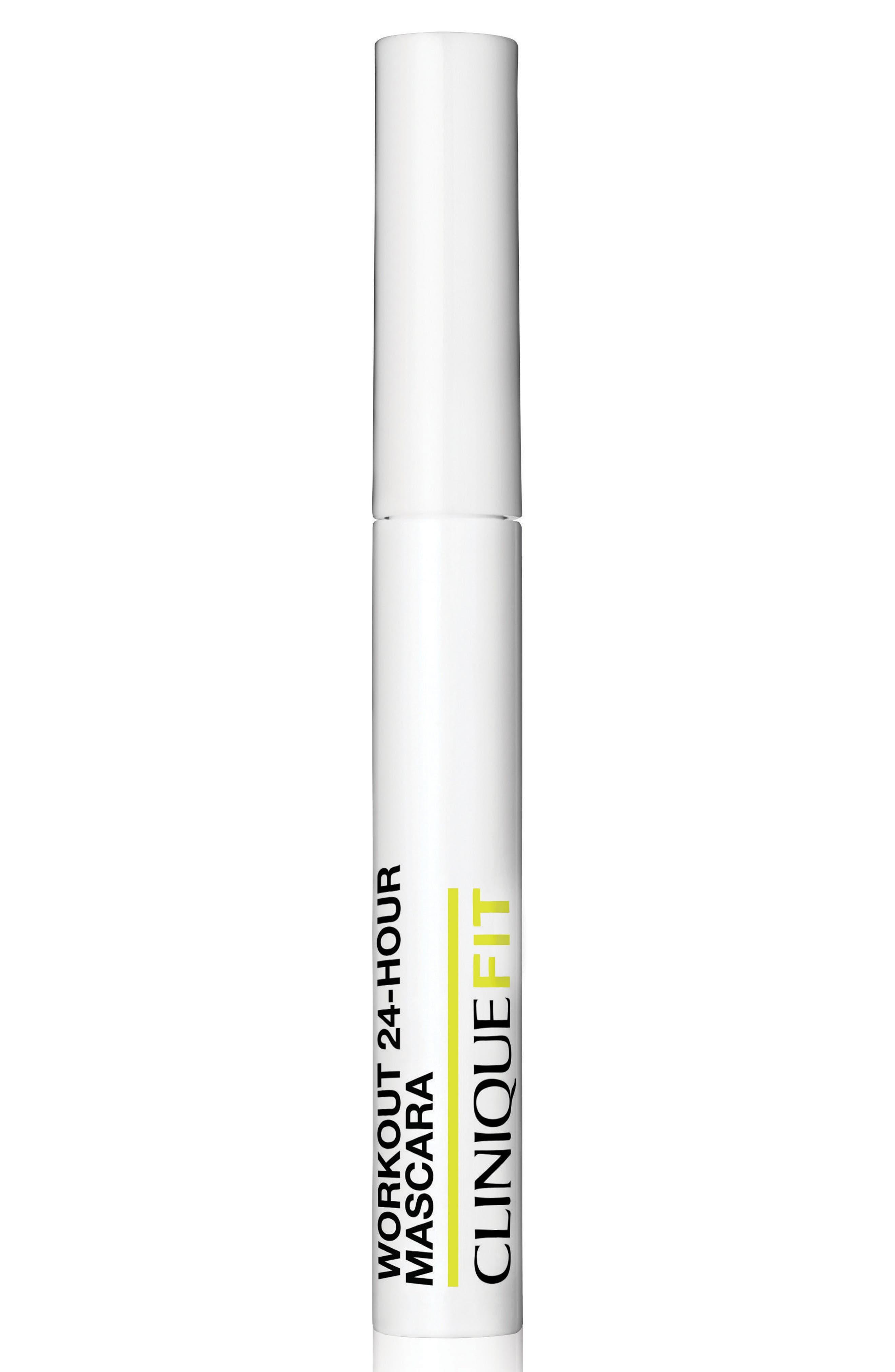 CLINIQUE, CliniqueFIT Workout 24-Hour Mascara, Alternate thumbnail 5, color, NO COLOR