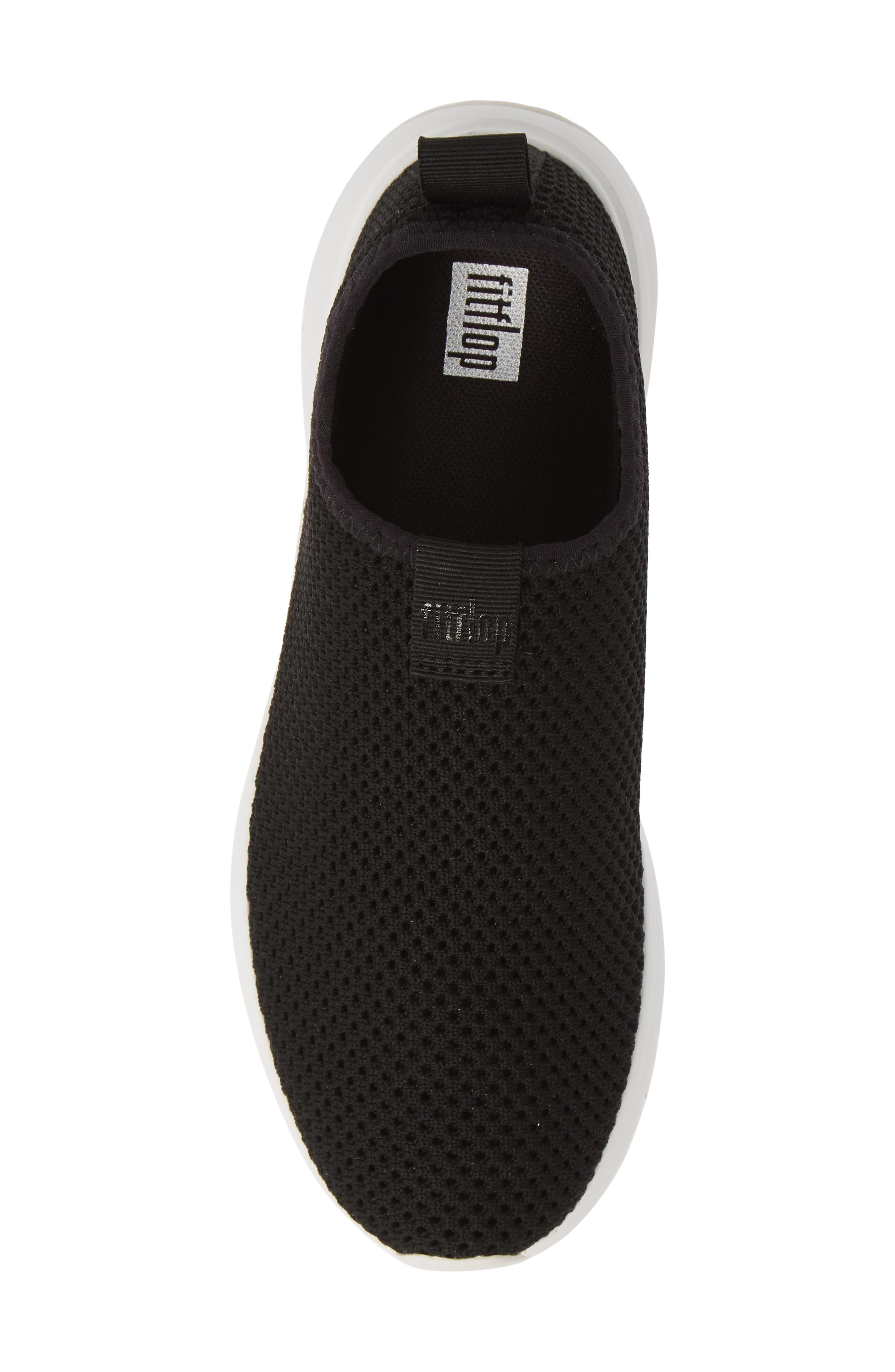 FITFLOP, Airmesh Slip-On Sneaker, Alternate thumbnail 5, color, BLACK