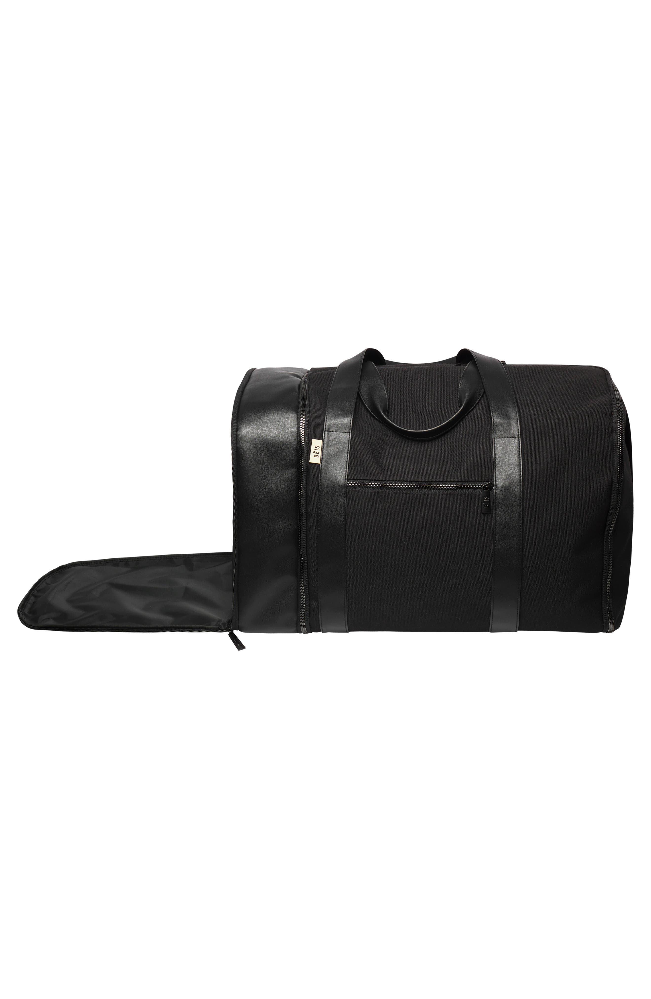 BÉIS, Travel Multi Function Duffle Bag, Alternate thumbnail 8, color, BLACK