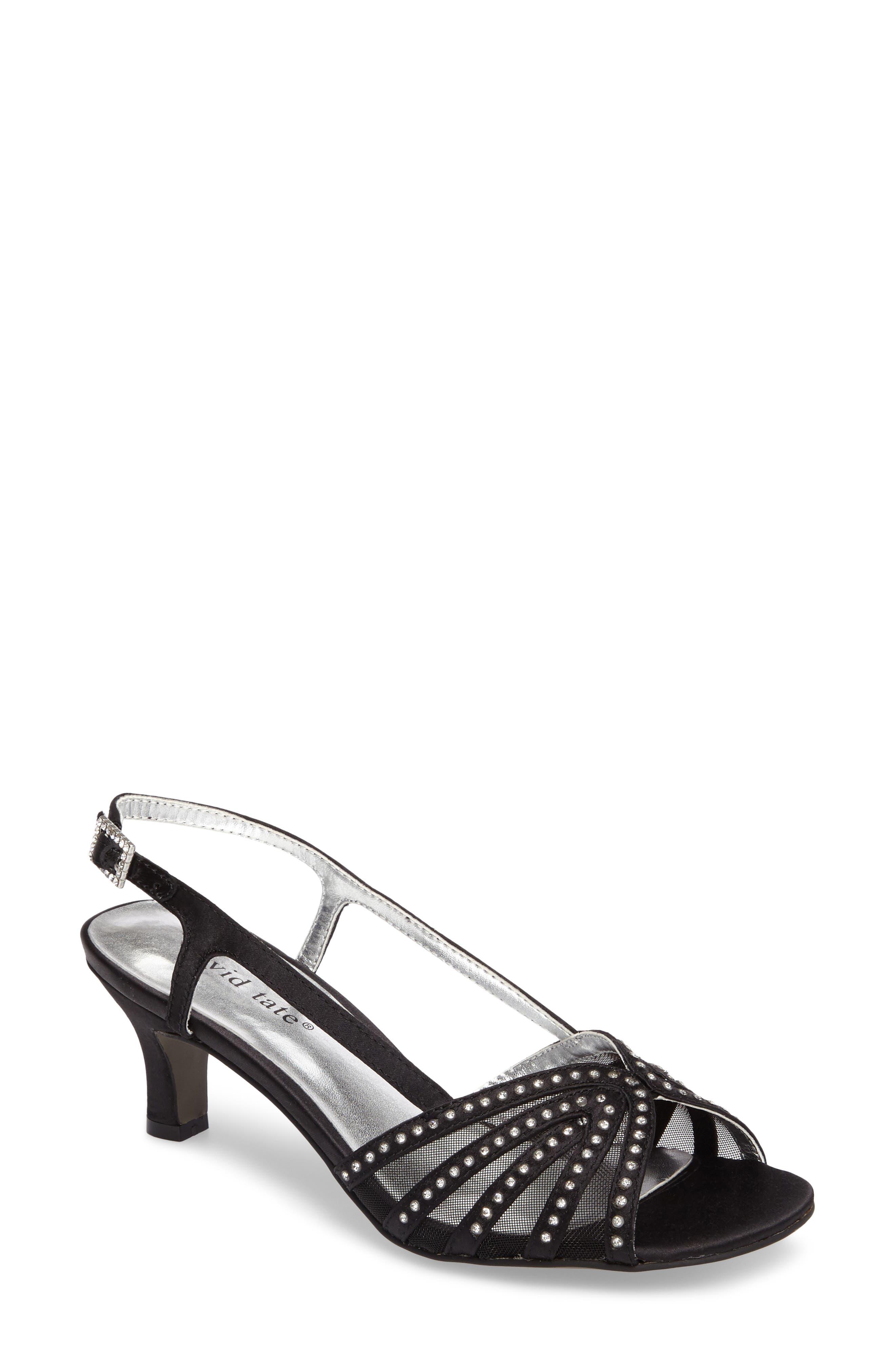 DAVID TATE Sizzle Slingback Sandal, Main, color, BLACK