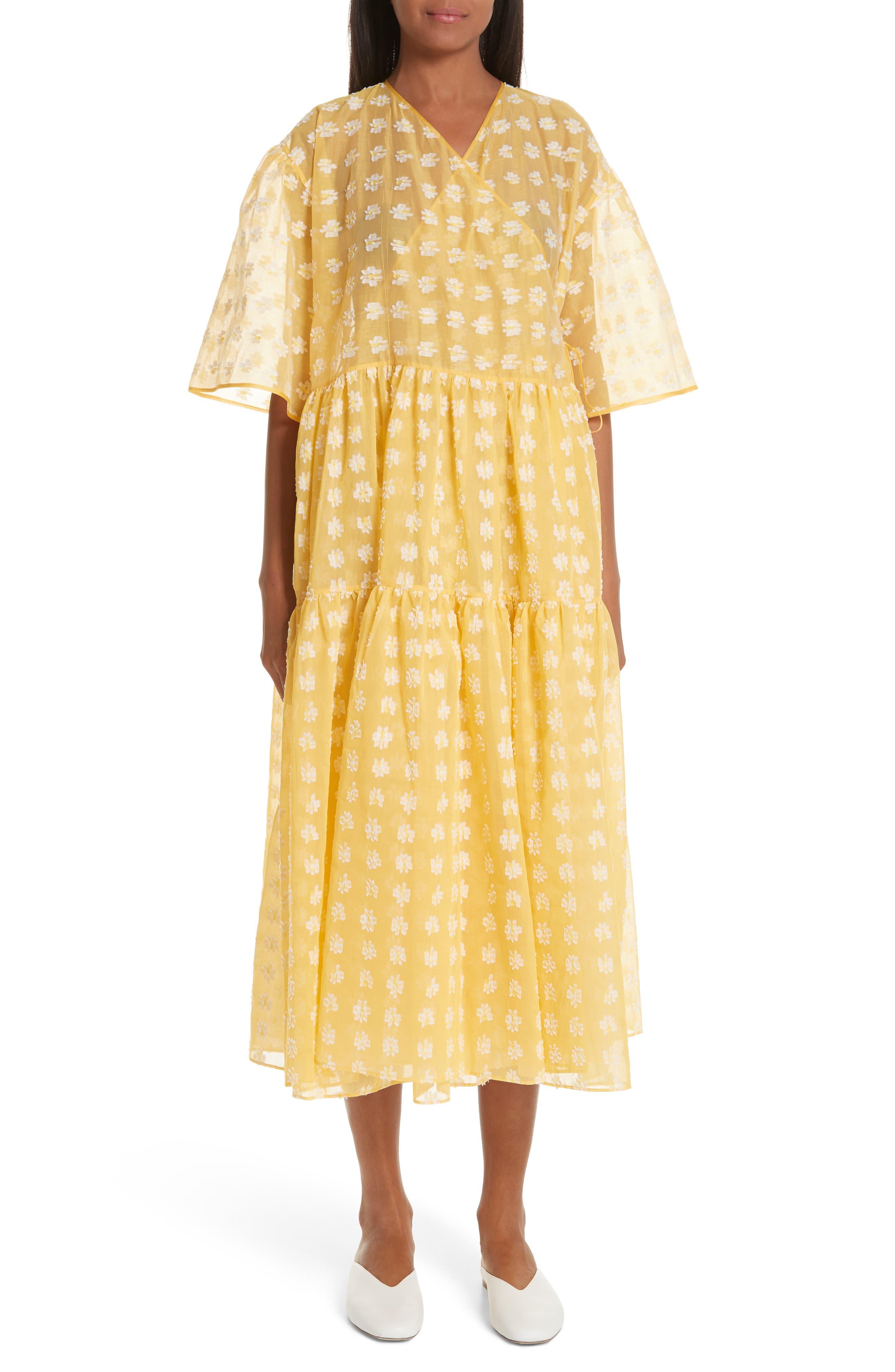 Cecilie Bahnsen Patricia Wrap Dress, White