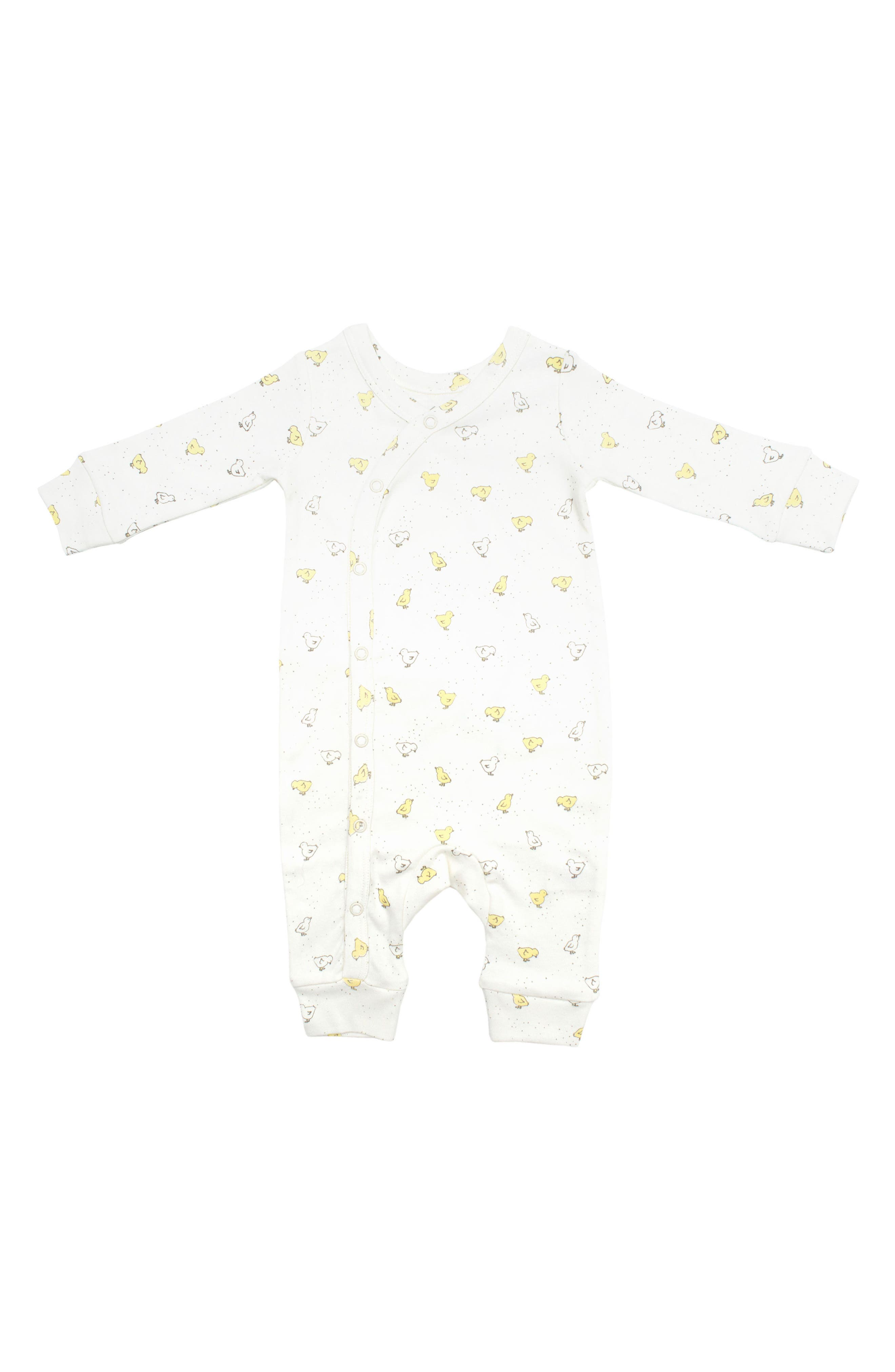PEHR, Baby Chick Romper, Main thumbnail 1, color, IVORY