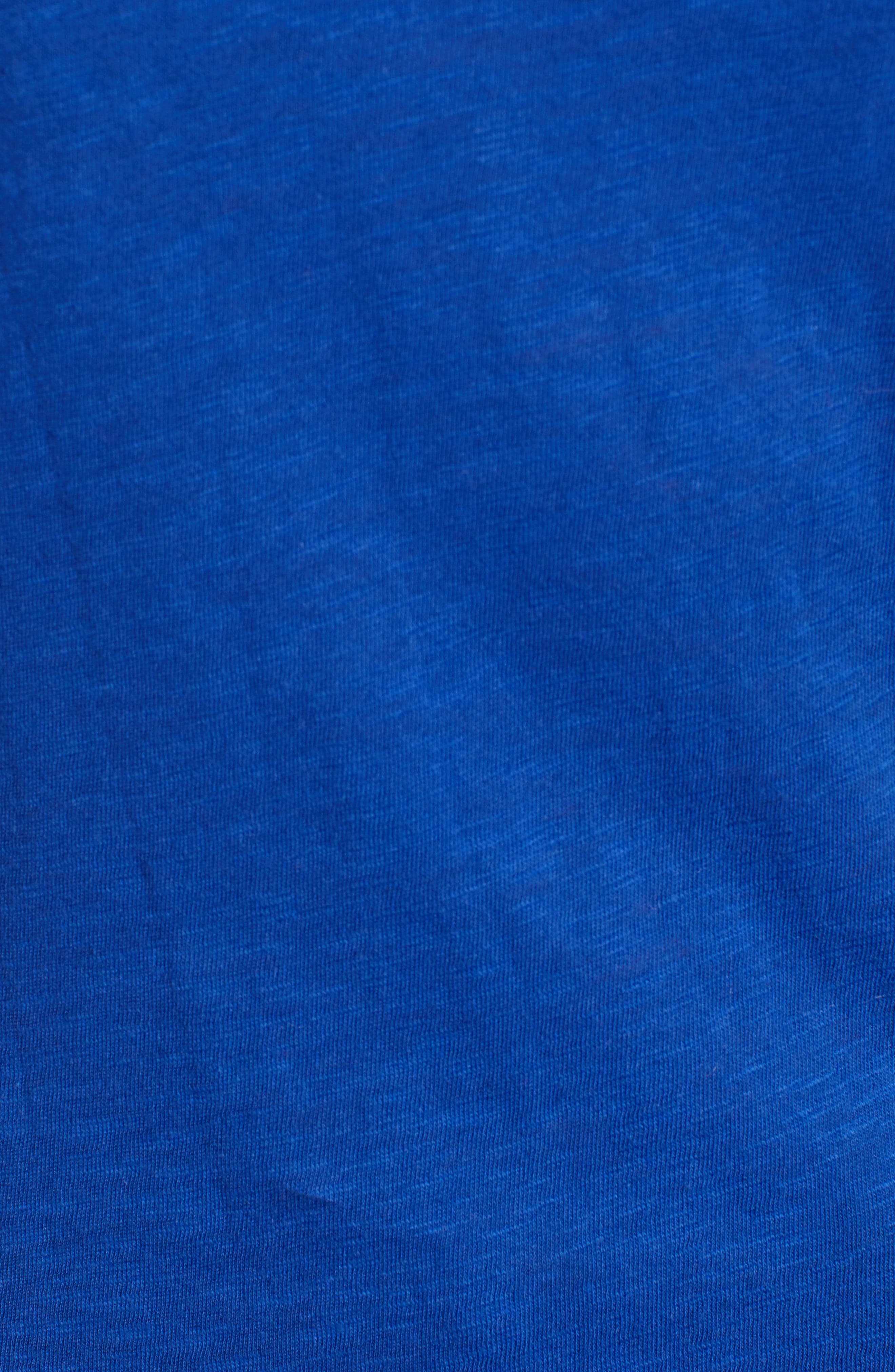 CASLON<SUP>®</SUP>, Slub Crewneck Tee, Alternate thumbnail 5, color, BLUE MAZARINE