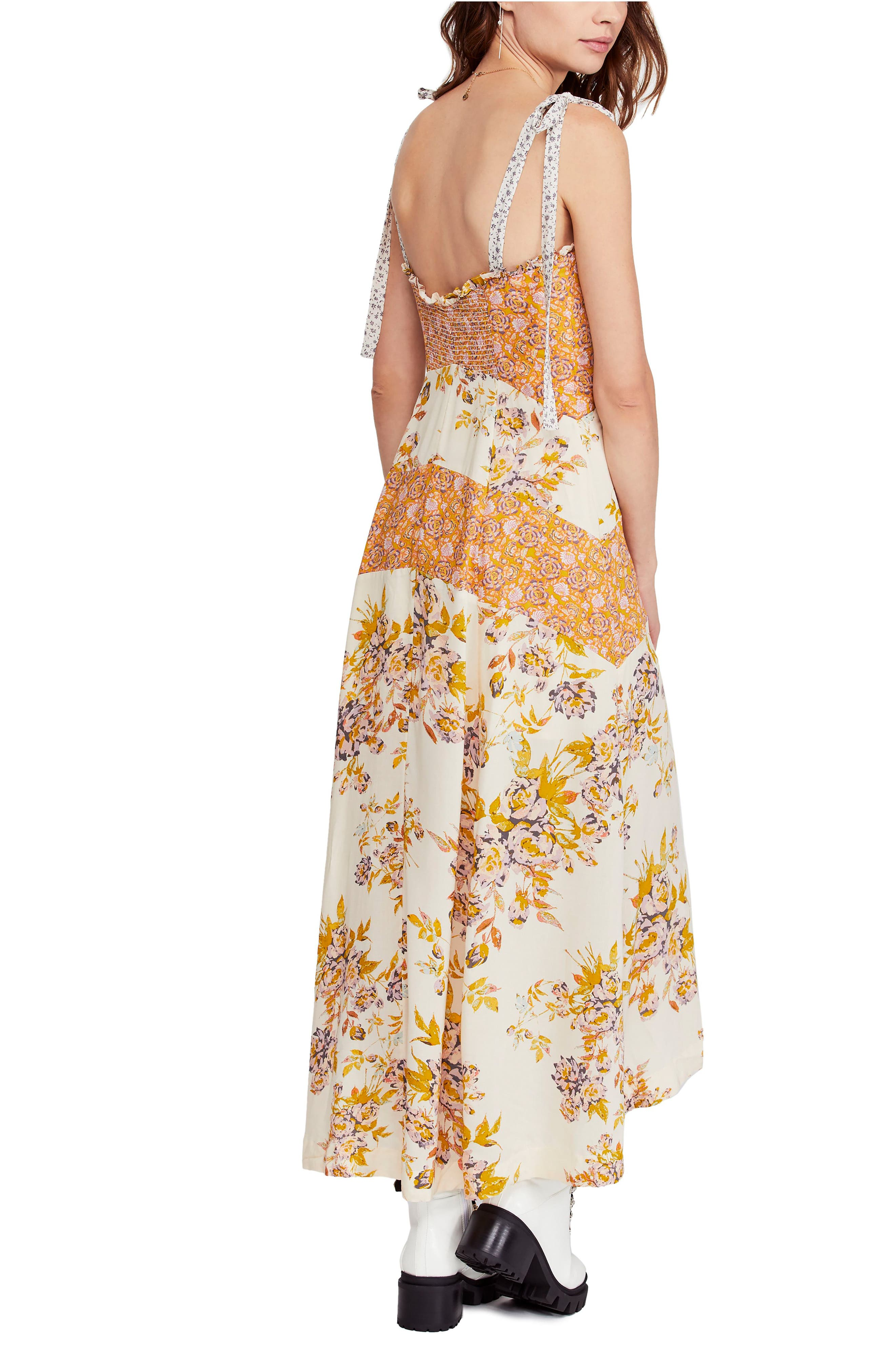FREE PEOPLE, Lover Boy Maxi Dress, Alternate thumbnail 2, color, NEUTRAL COMBO