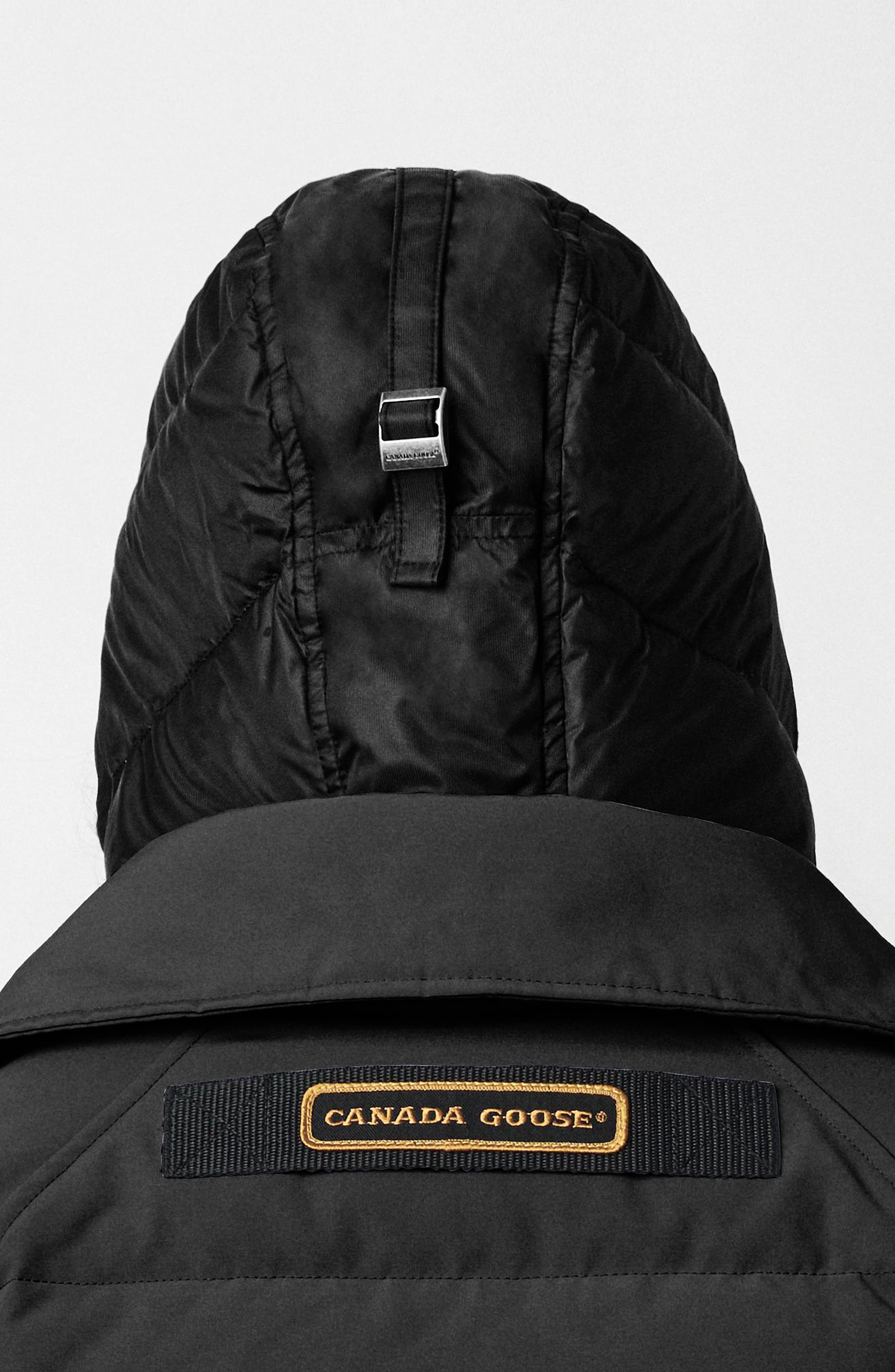 CANADA GOOSE, Deep Cove Arctic Tech Water Resistant 625 Fill Power Down Bomber Jacket, Alternate thumbnail 7, color, BLACK