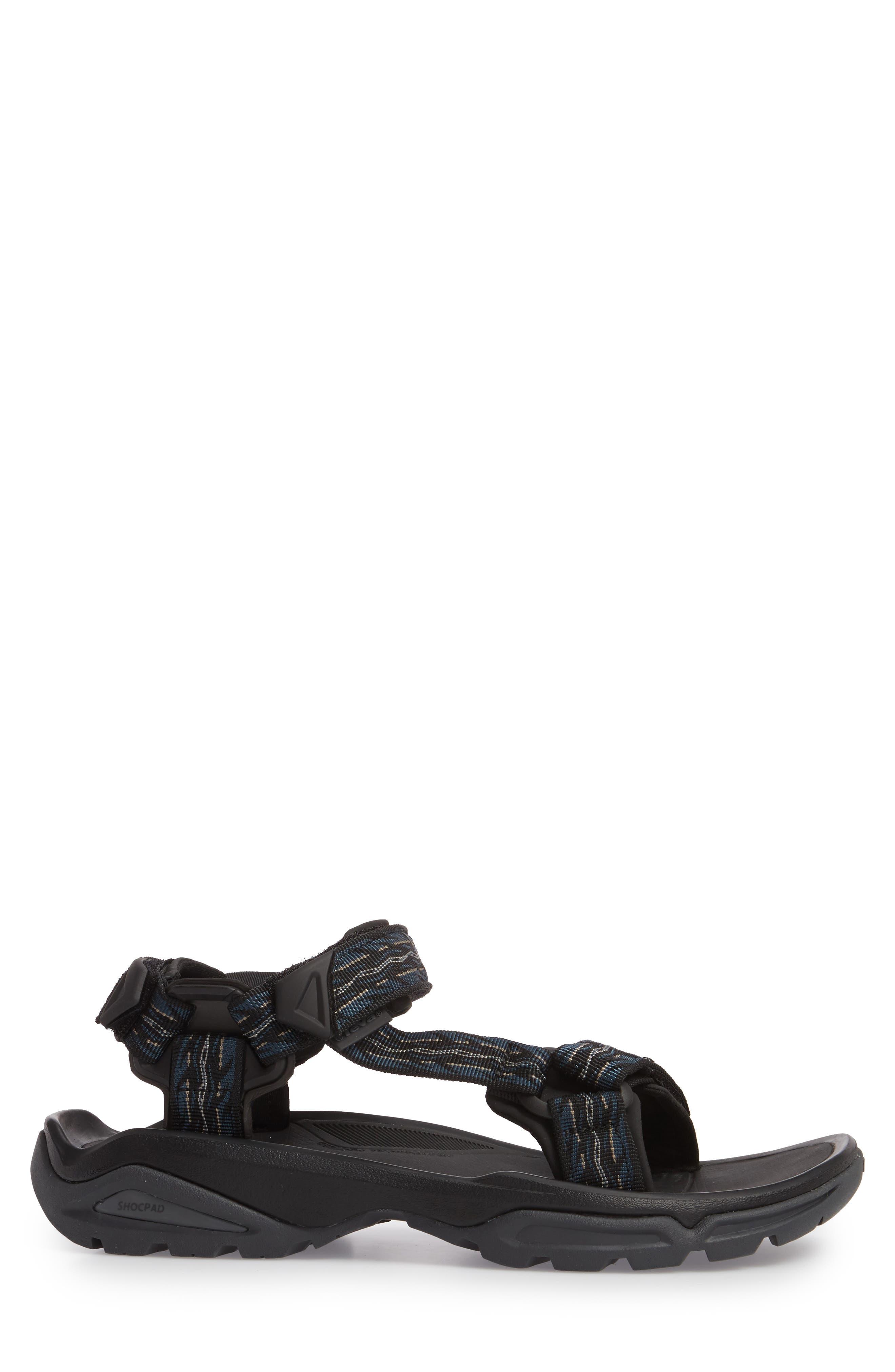 TEVA, Terra Fi 4 Sport Sandal, Alternate thumbnail 3, color, MIDNIGHT BLUE NYLON