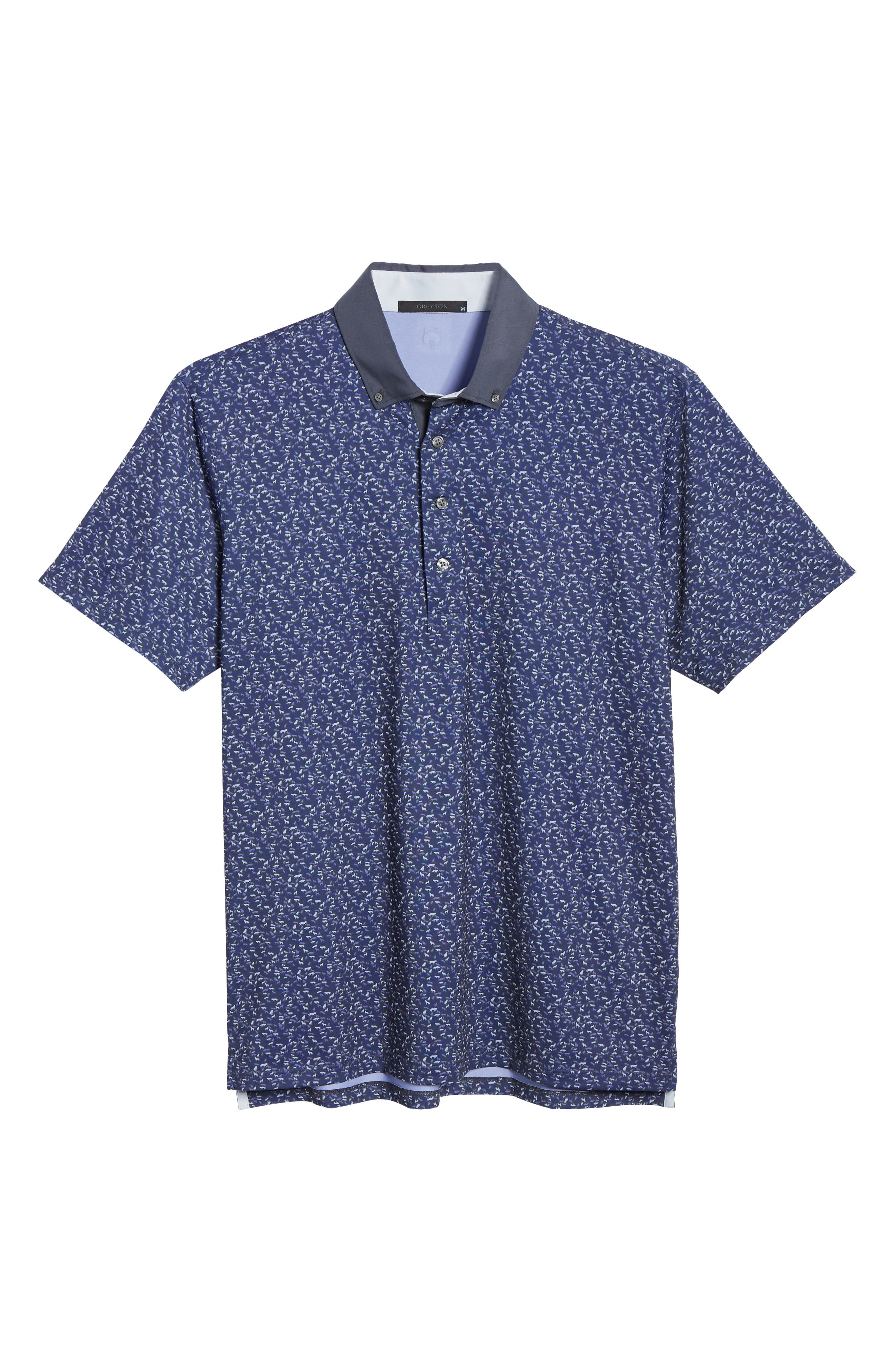 GREYSON, Wolfpack Technical Polo, Alternate thumbnail 6, color, SWALLOW/ DOVE