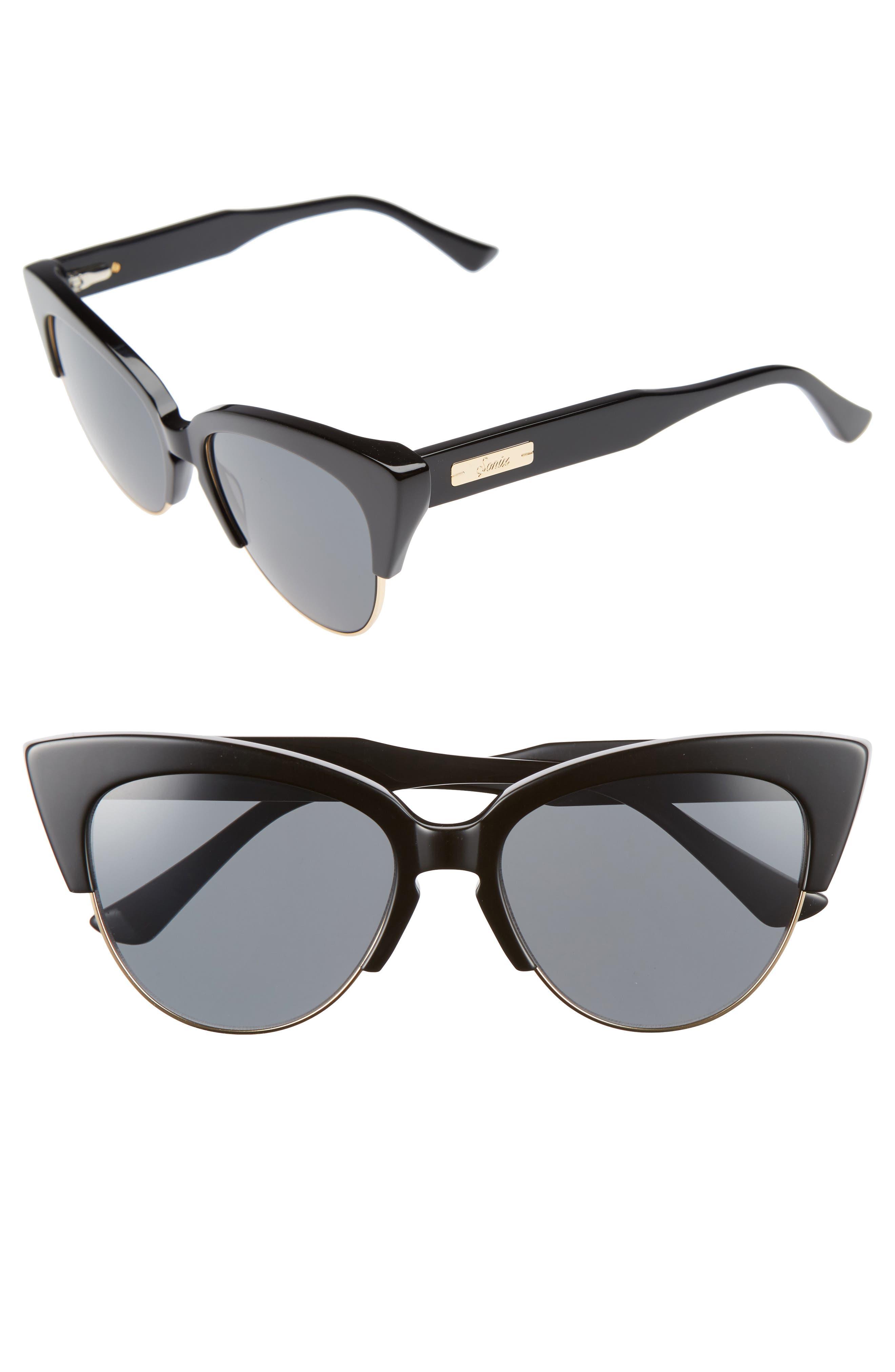 SONIX, Dafni 56mm Gradient Cat Eye Sunglasses, Main thumbnail 1, color, 001