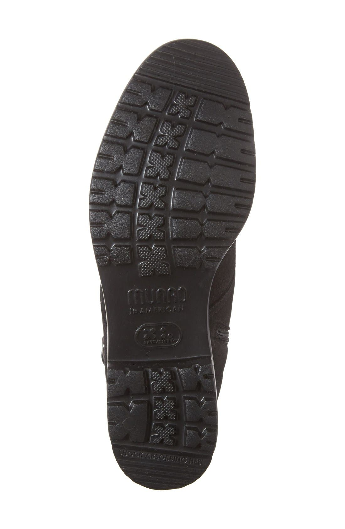 MUNRO, Bradley Water Resistant Boot, Alternate thumbnail 4, color, BLACK TUMBLED NUBUCK LEATHER