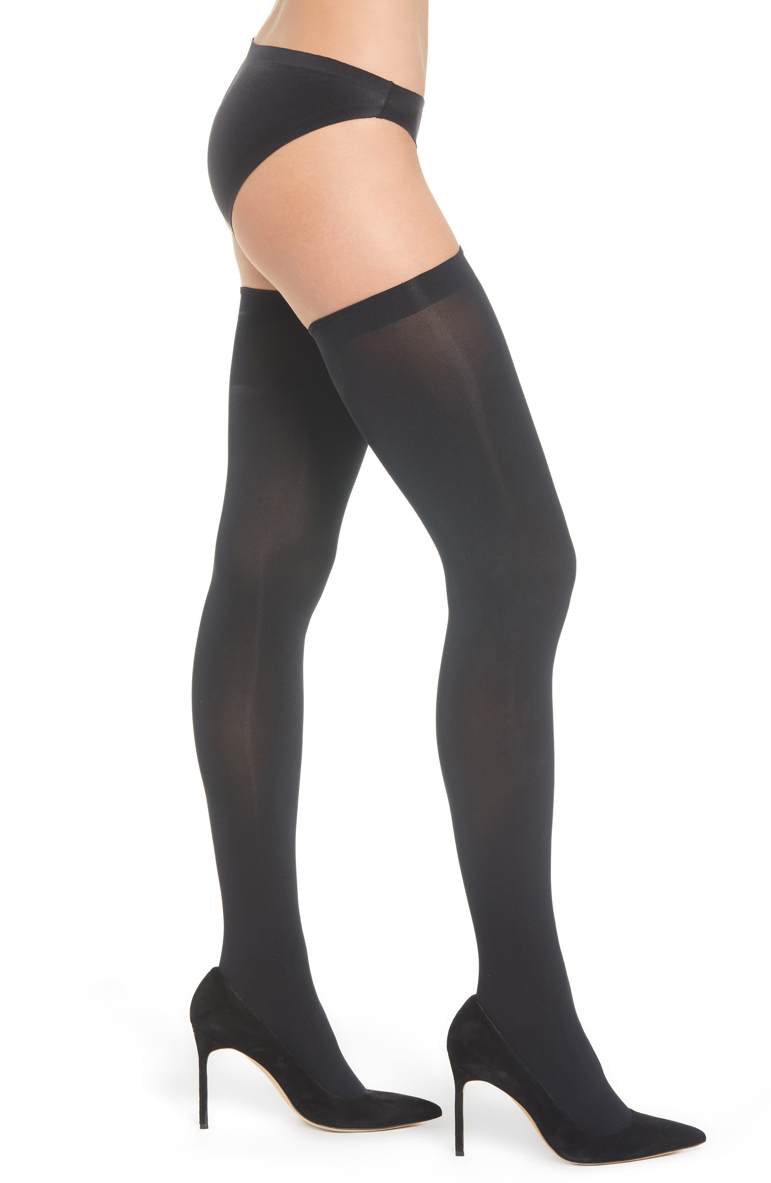 SARAH BORGHI Alexandra Hold-Up Stockings, Main, color, 001