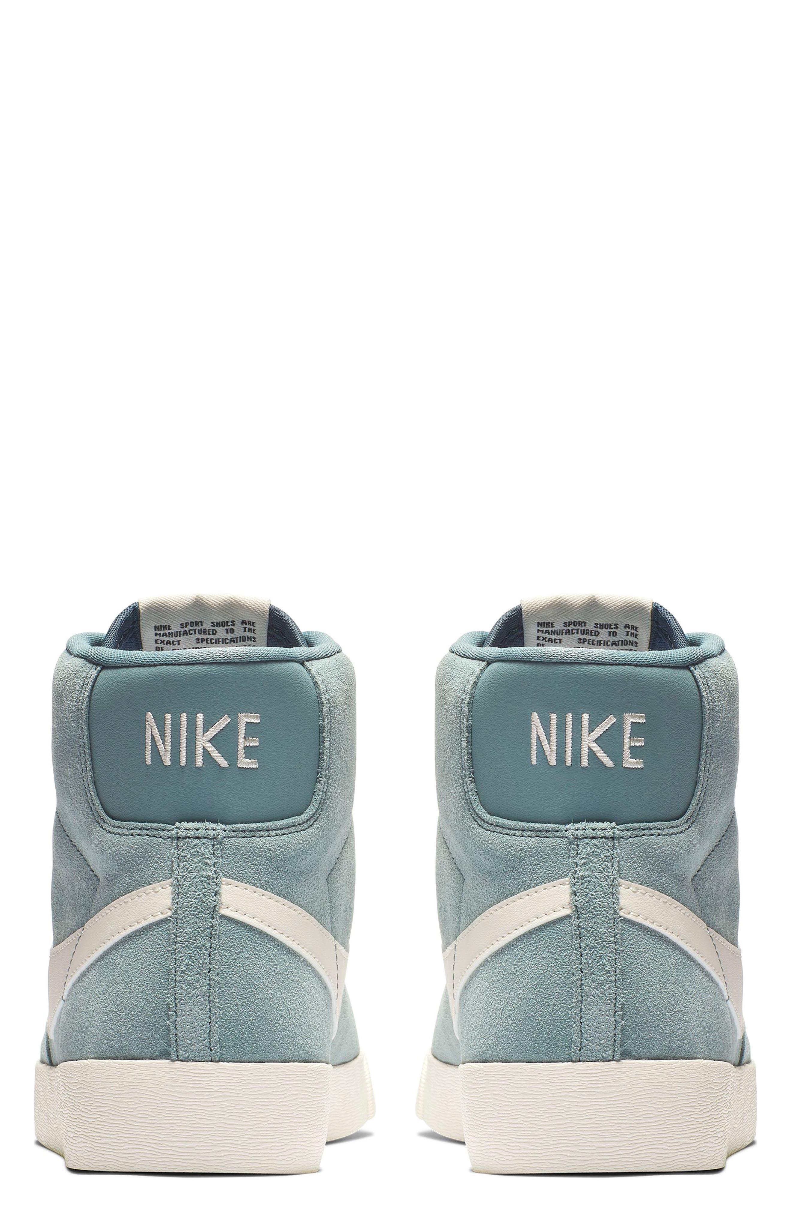 NIKE, Blazer Mid Vintage Sneaker, Alternate thumbnail 2, color, AVIATOR GREY/ SAIL/ BLUE