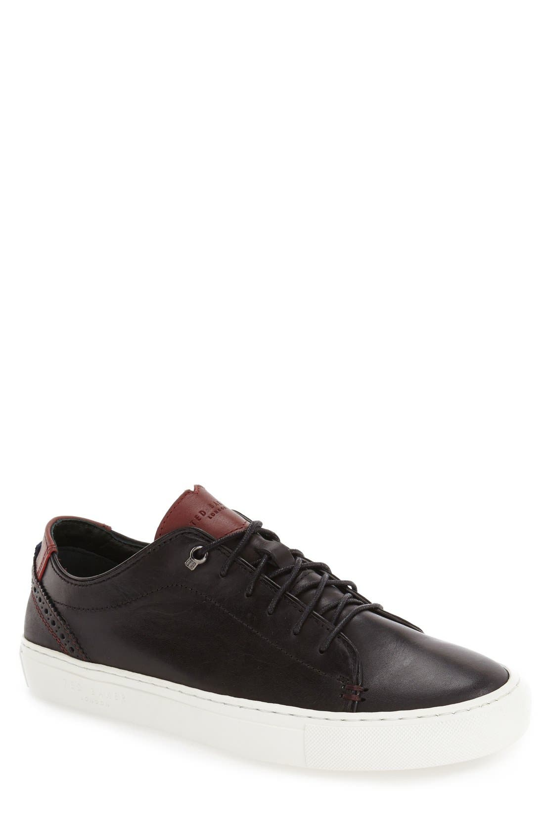 TED BAKER LONDON, 'Kiing Classic' Sneaker, Alternate thumbnail 4, color, 001