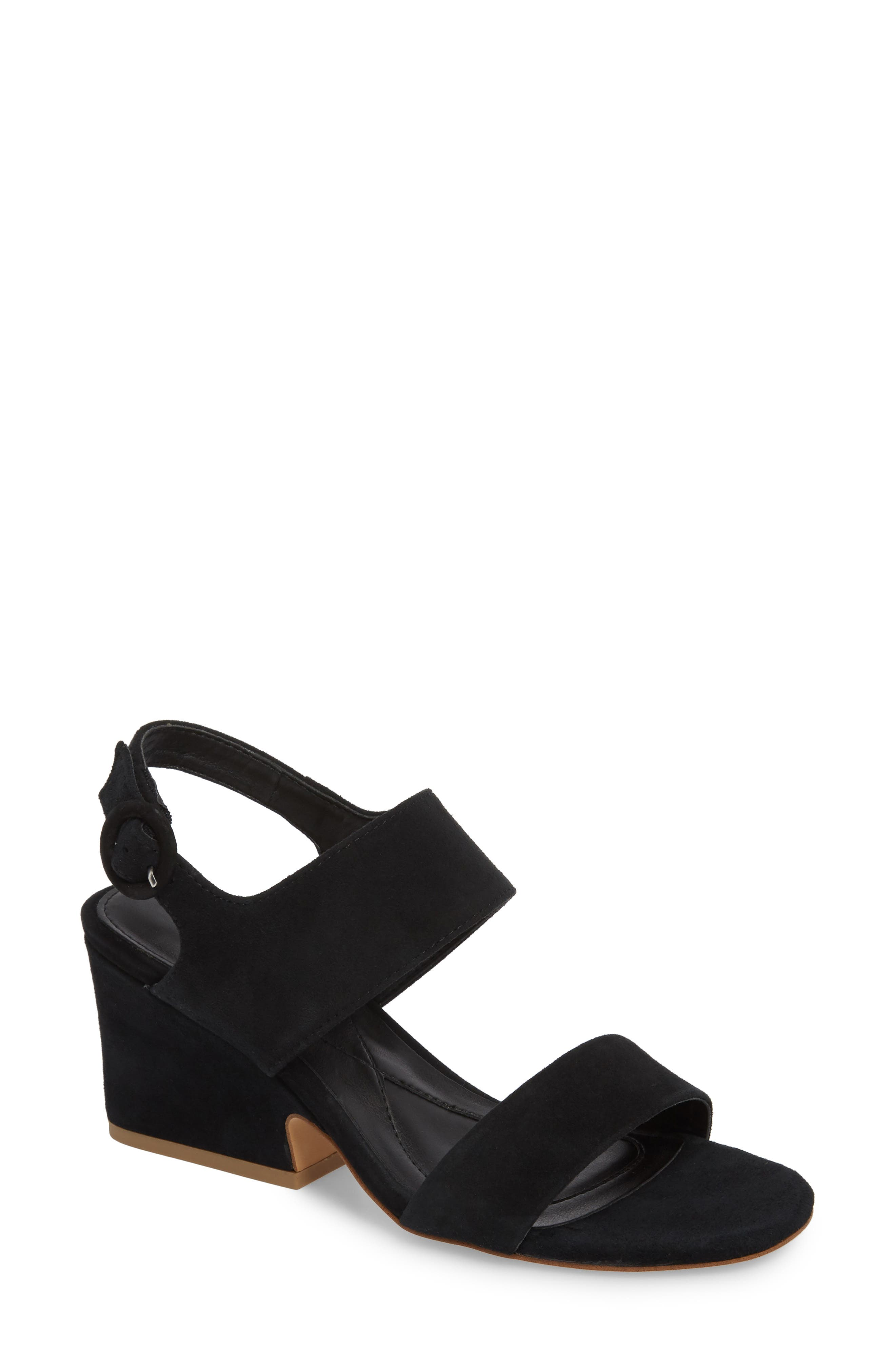 ISOLÁ, Isola Landra Block Heel Sandal, Main thumbnail 1, color, BLACK SUEDE