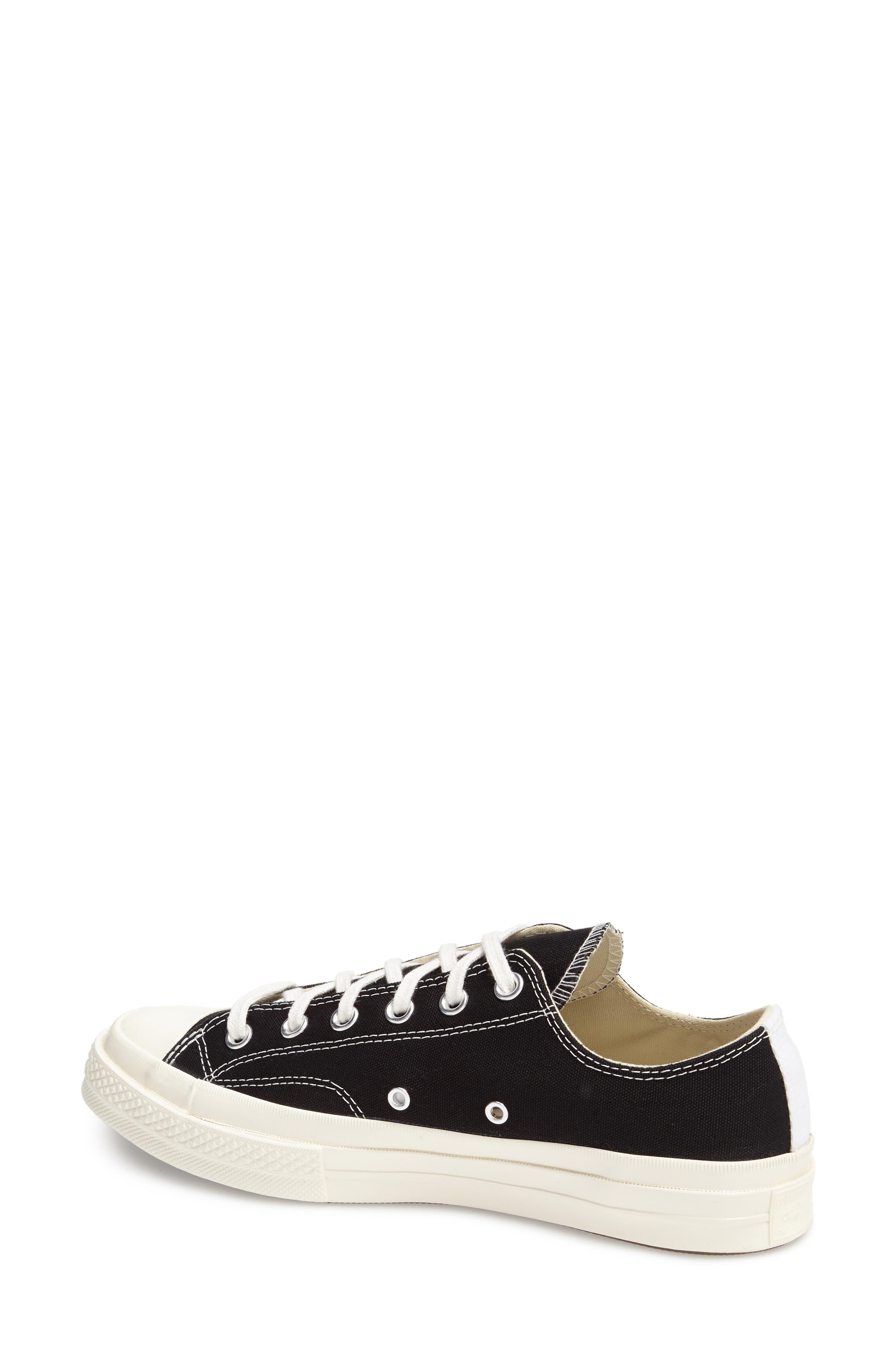 COMME DES GARÇONS PLAY, x Converse Chuck Taylor<sup>®</sup> Hidden Heart Low Top Sneaker, Main thumbnail 1, color, BLACK