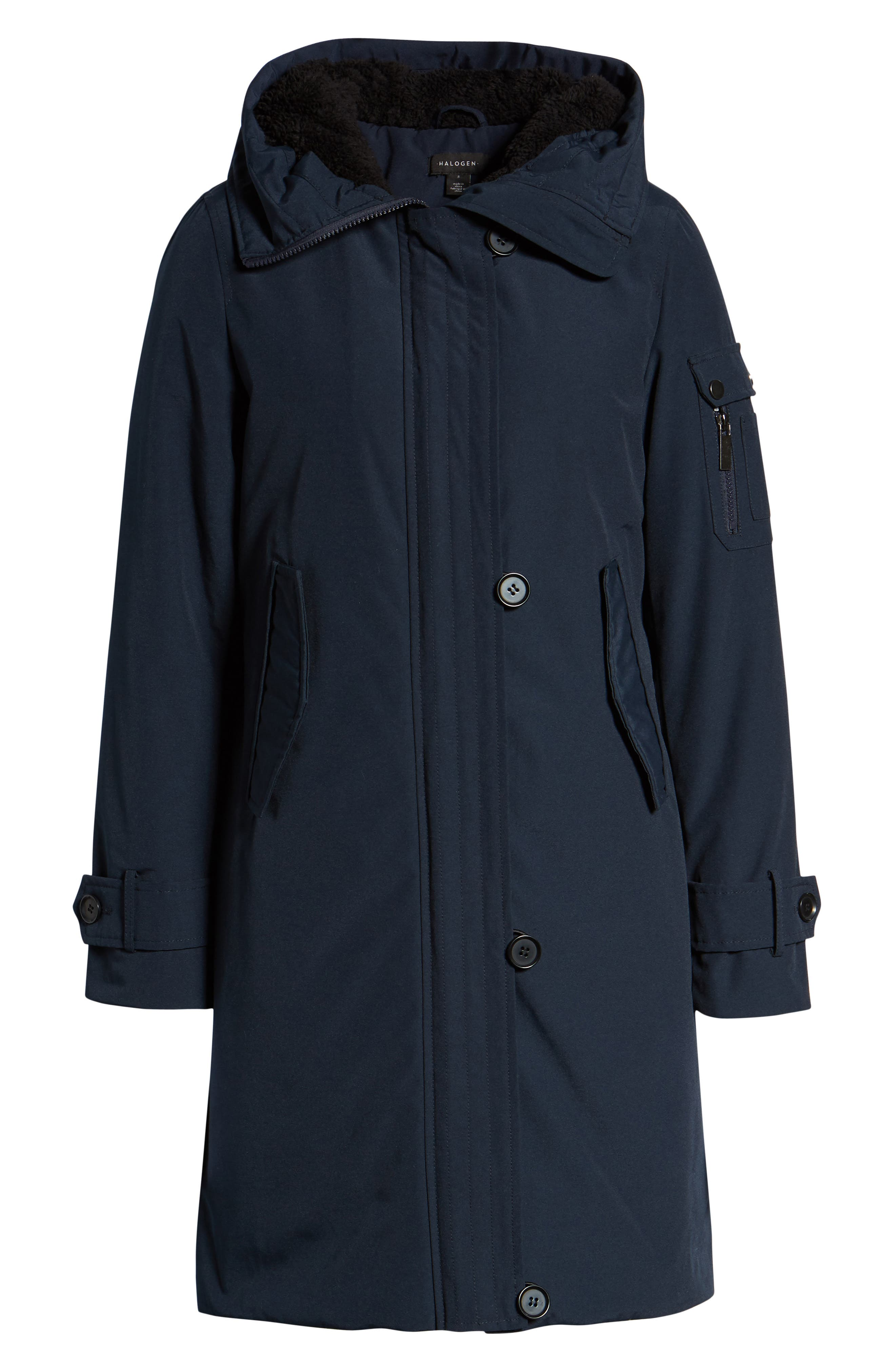 HALOGEN<SUP>®</SUP>, Heavyweight Parka, Alternate thumbnail 6, color, NAVY