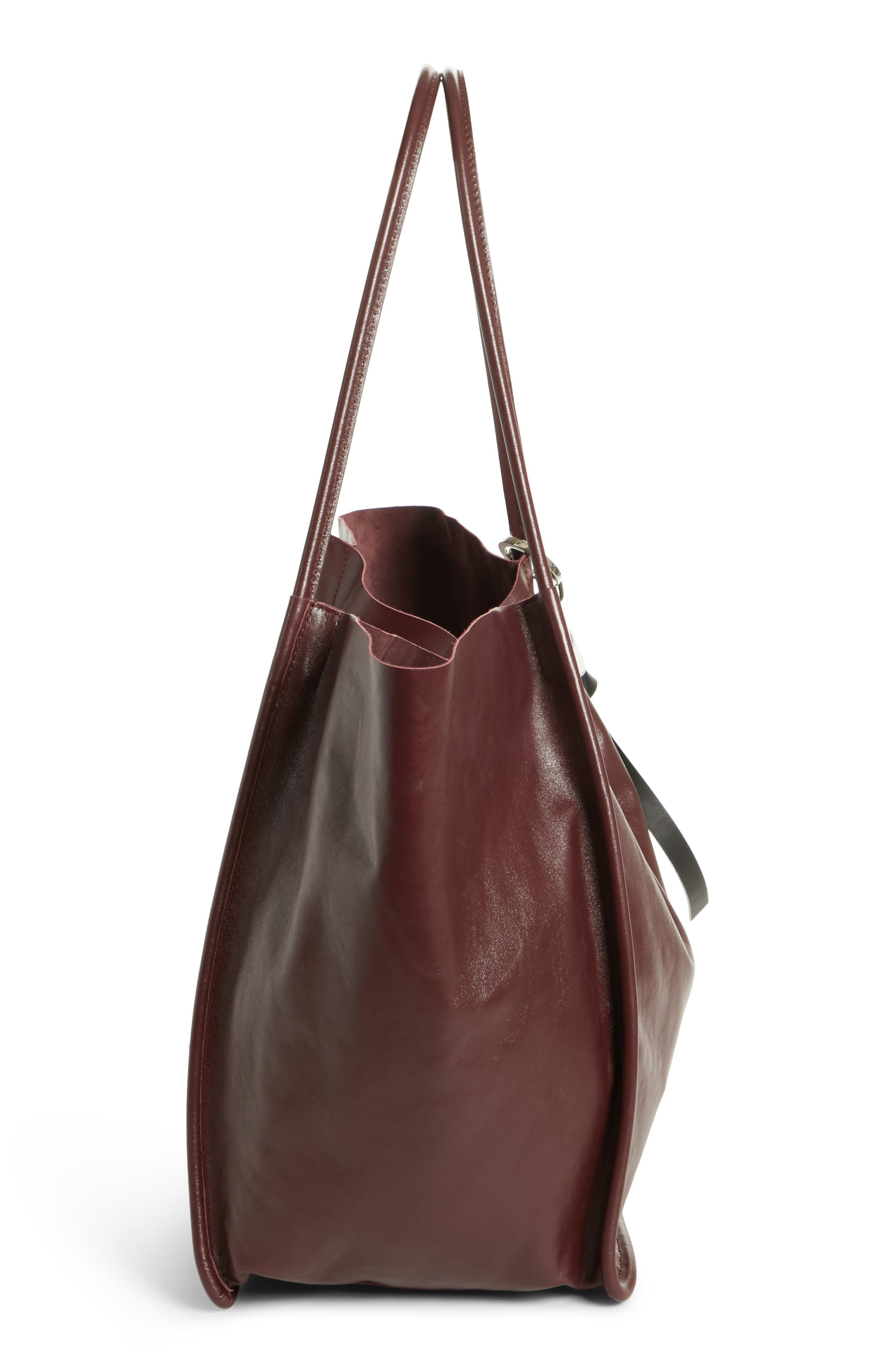 PROENZA SCHOULER, Extra Large Leather Tote, Alternate thumbnail 4, color, 848
