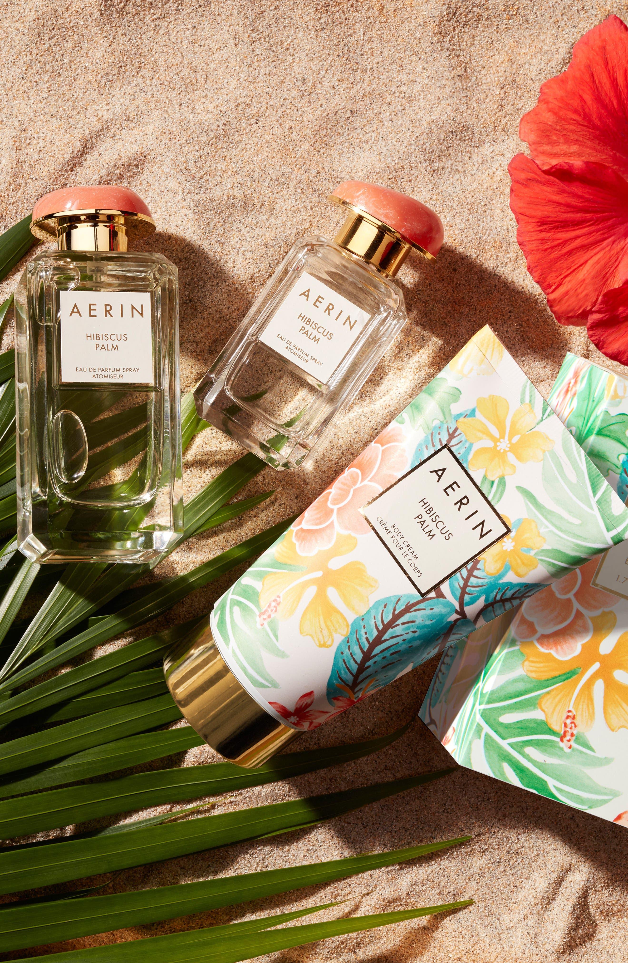 ESTÉE LAUDER, AERIN Beauty Hibiscus Palm Body Cream, Alternate thumbnail 3, color, NO COLOR