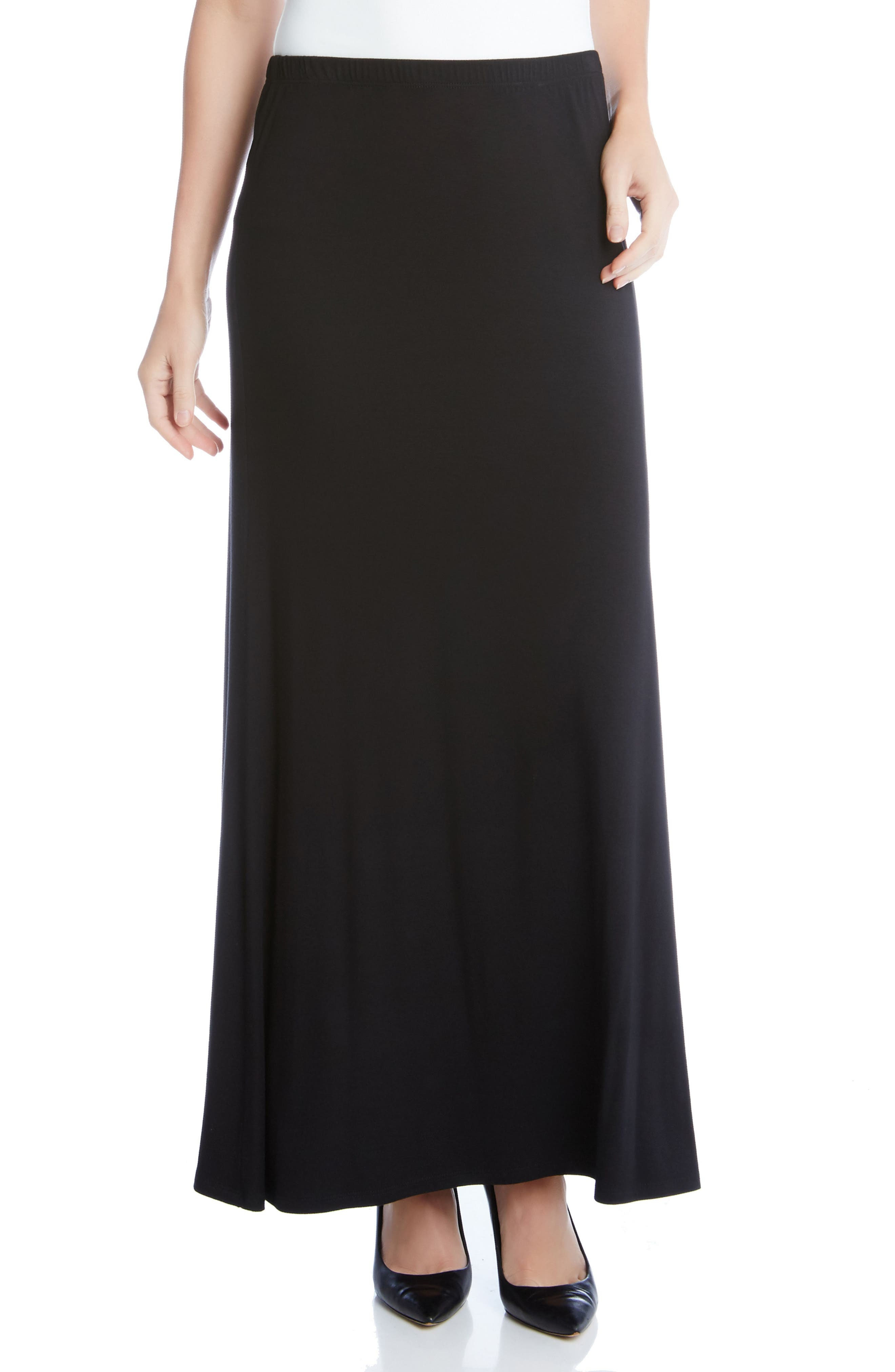 KAREN KANE, Maxi Skirt, Main thumbnail 1, color, BLACK