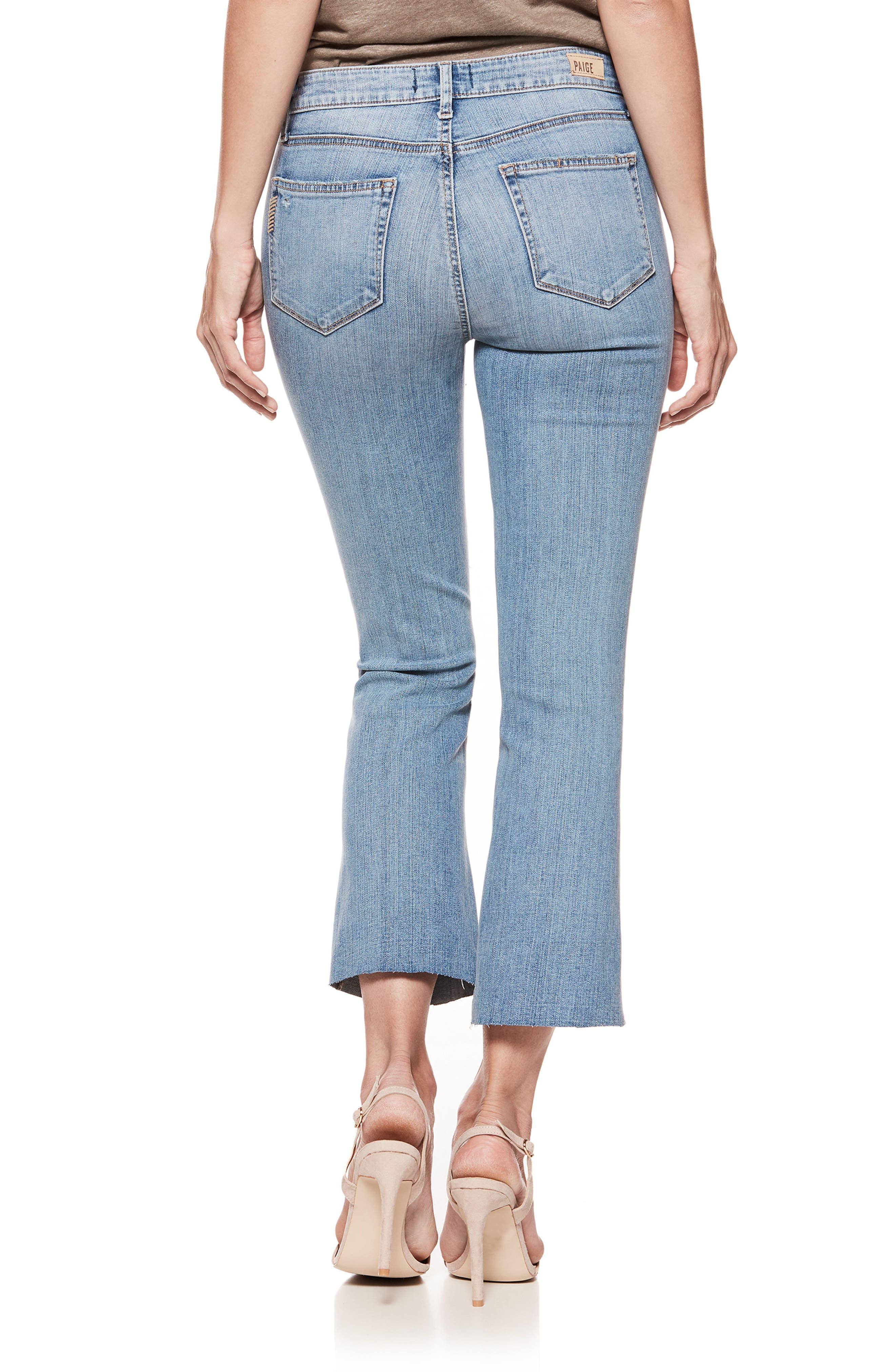 PAIGE, Colette High Waist Crop Flare Jeans, Alternate thumbnail 2, color, 400