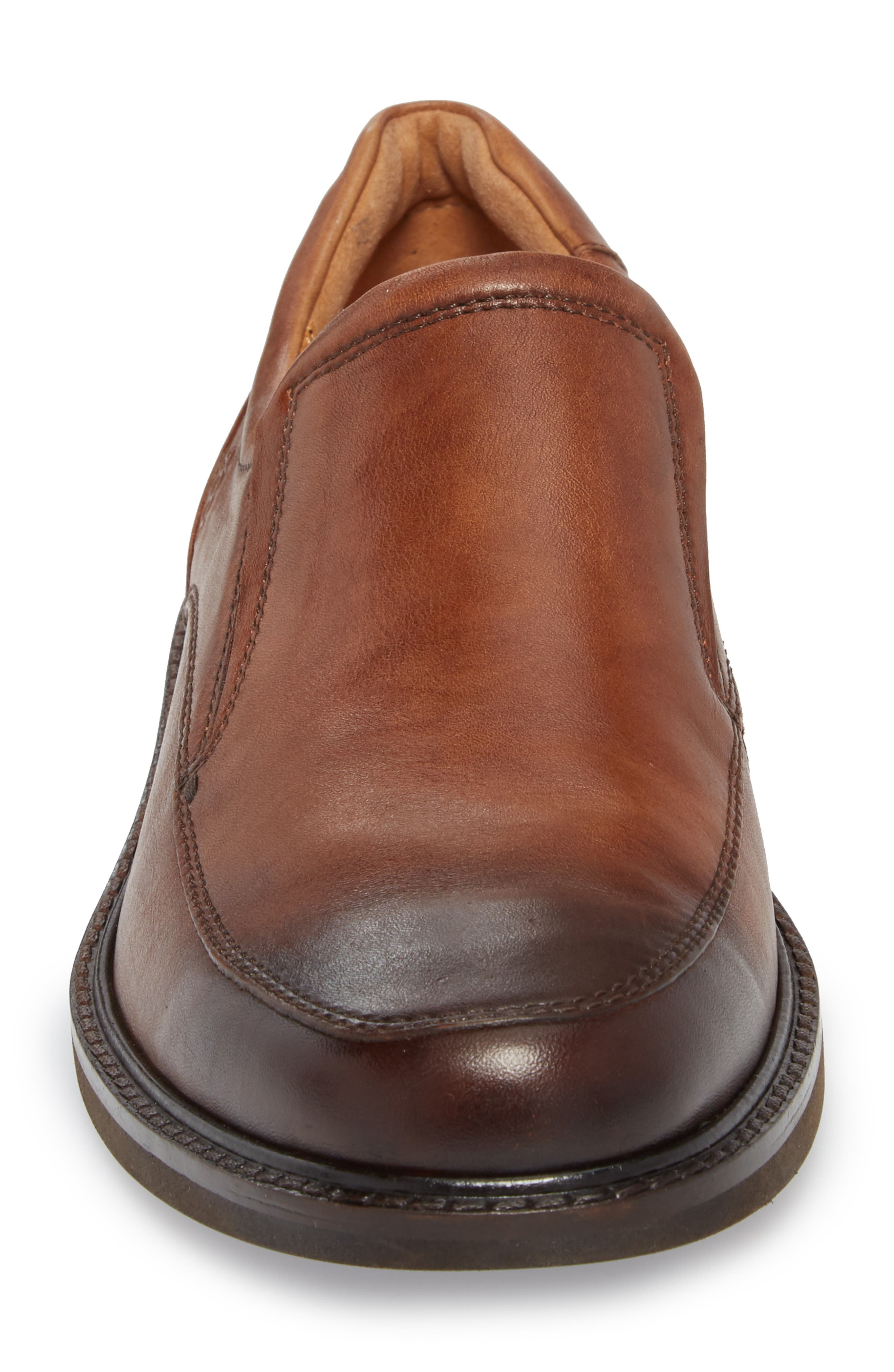 ECCO, Holton Slip-On, Alternate thumbnail 4, color, BROWN LEATHER