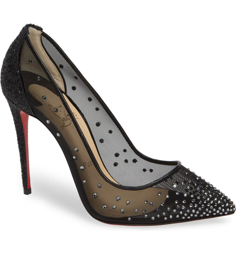7999f3b741f1 Christian Louboutin Follies Strass Embellished Mesh Pump (Women ...