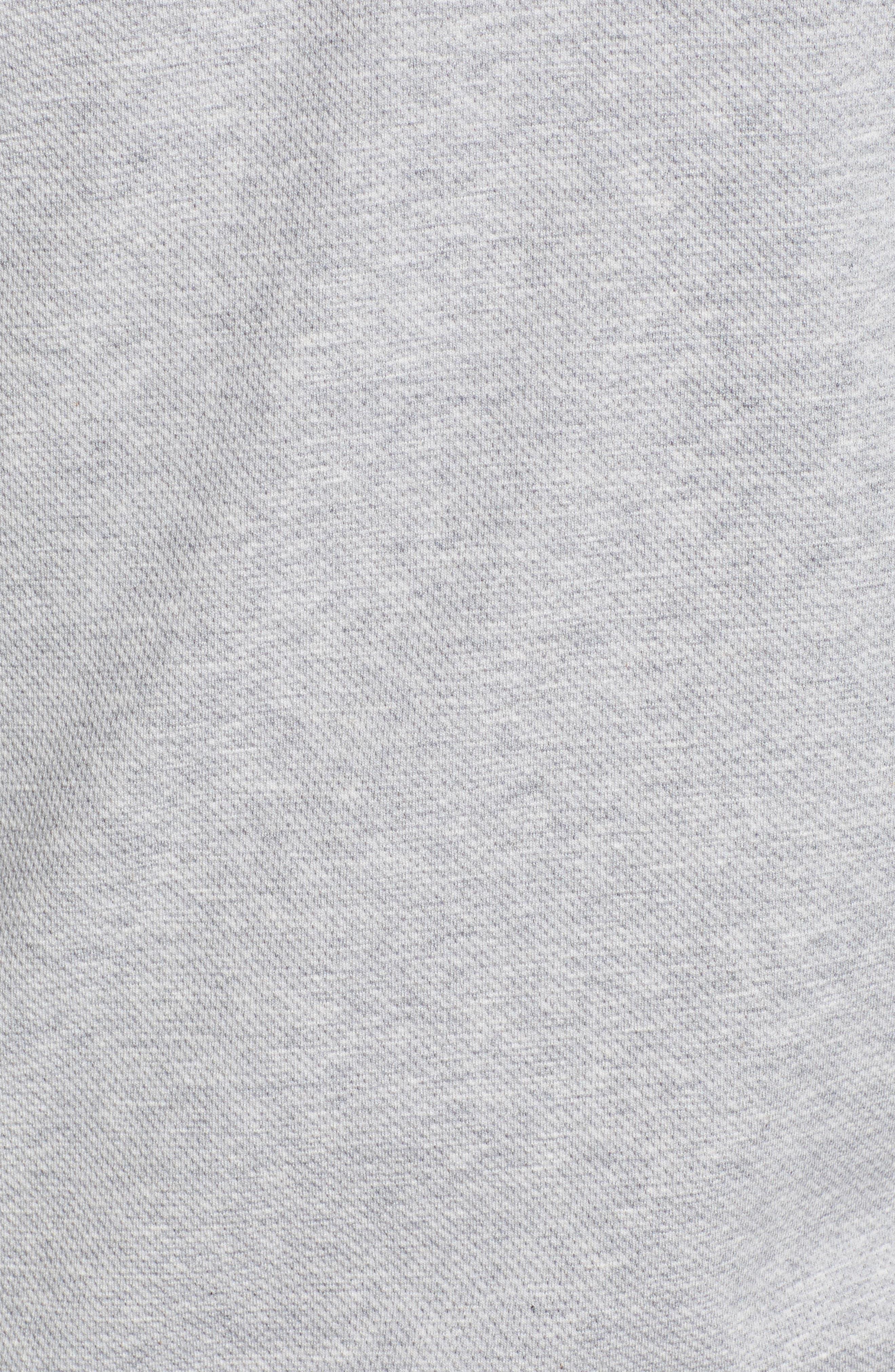 VINEYARD VINES, Saltwater Quarter Zip Pullover, Alternate thumbnail 5, color, GREY HEATHER