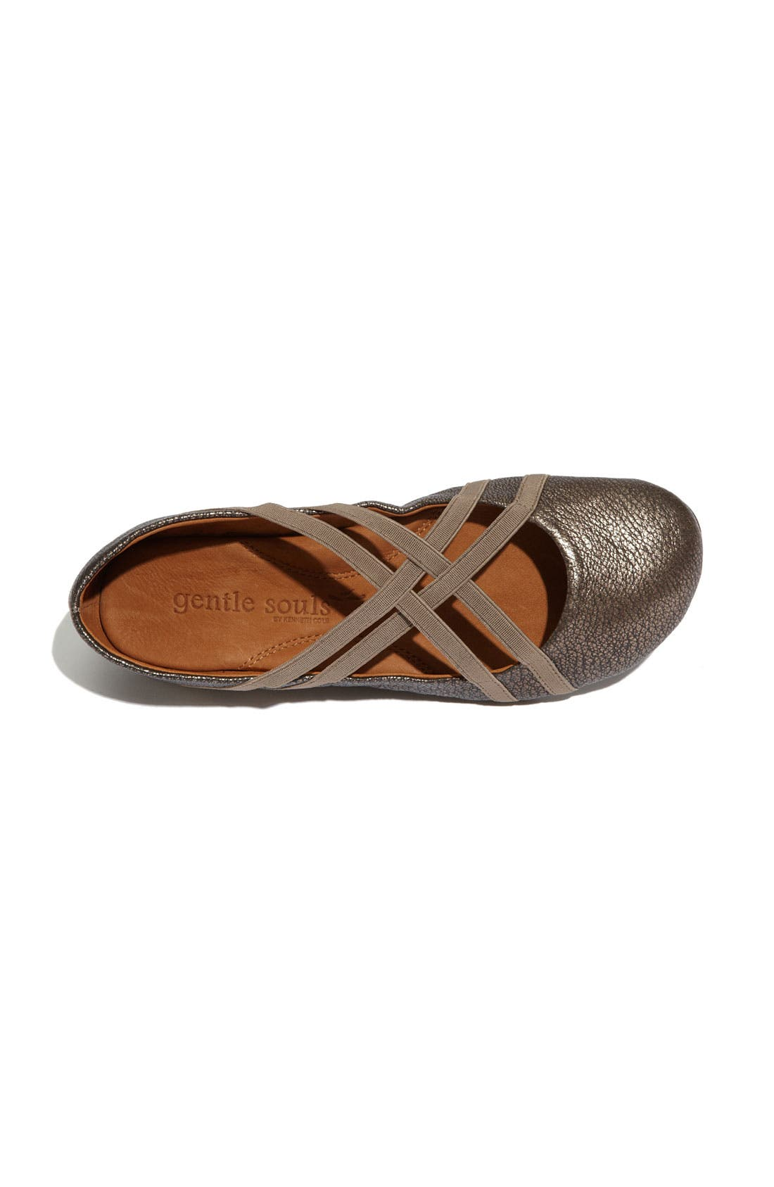 GENTLE SOULS BY KENNETH COLE, 'Bay Braid' Flat, Alternate thumbnail 3, color, ANTIQUE PEWTER