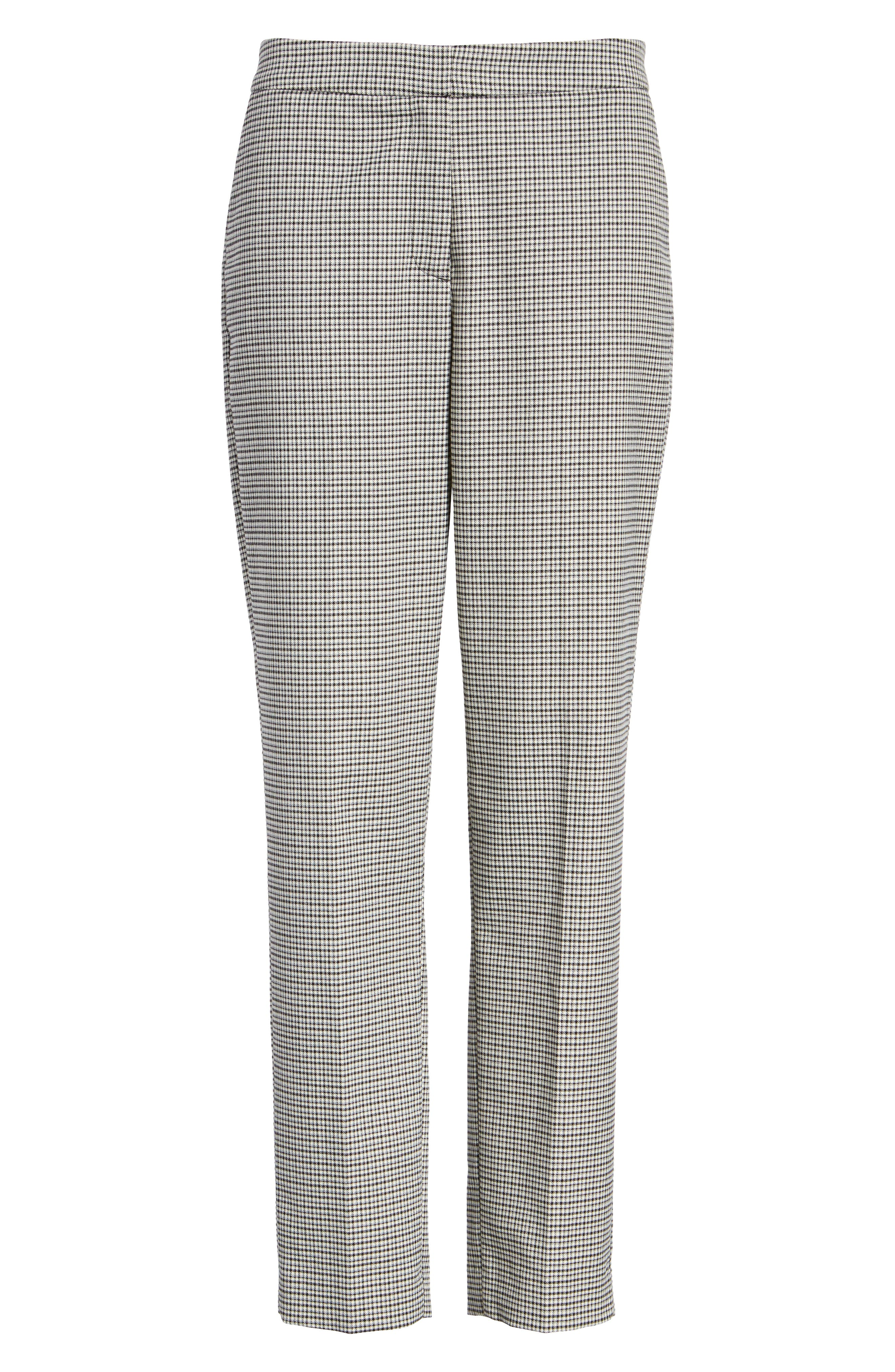 HALOGEN<SUP>®</SUP>, Plaid Ankle Skinny Pants, Alternate thumbnail 8, color, 001