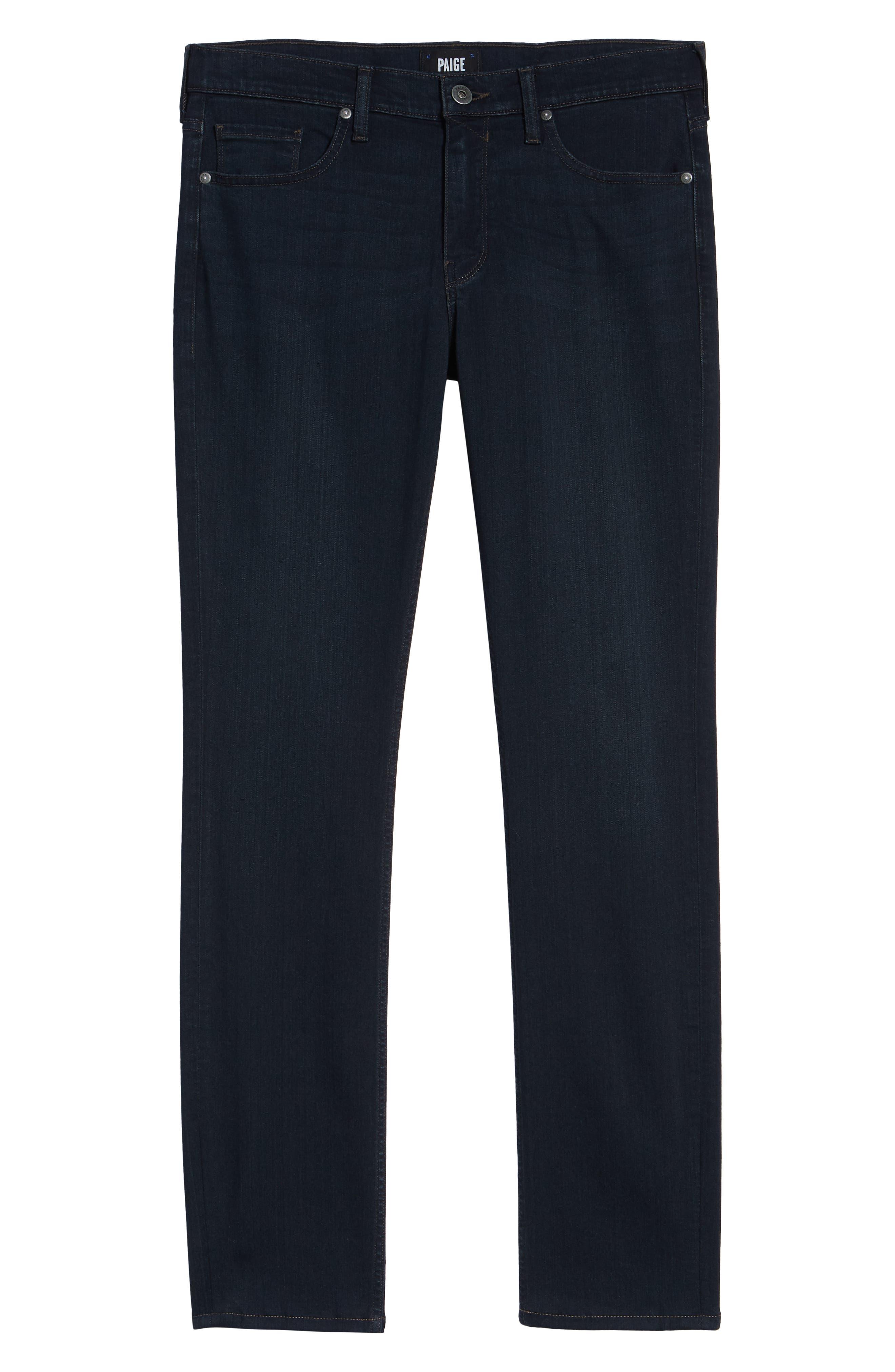 PAIGE, Transcend – Lennox Slim Fit Jeans, Alternate thumbnail 7, color, DOMINIC