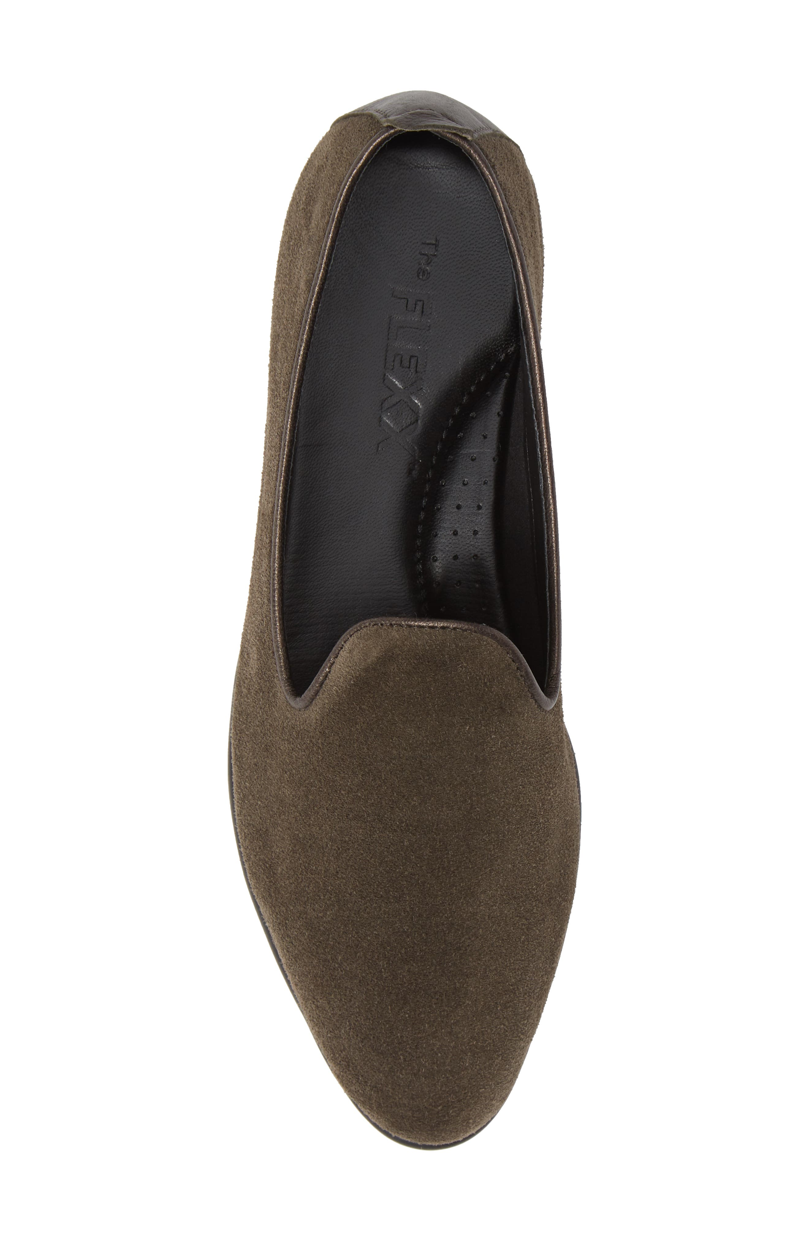 THE FLEXX, Smokin' Hot Plush Loafer, Alternate thumbnail 5, color, BROWN SUEDE