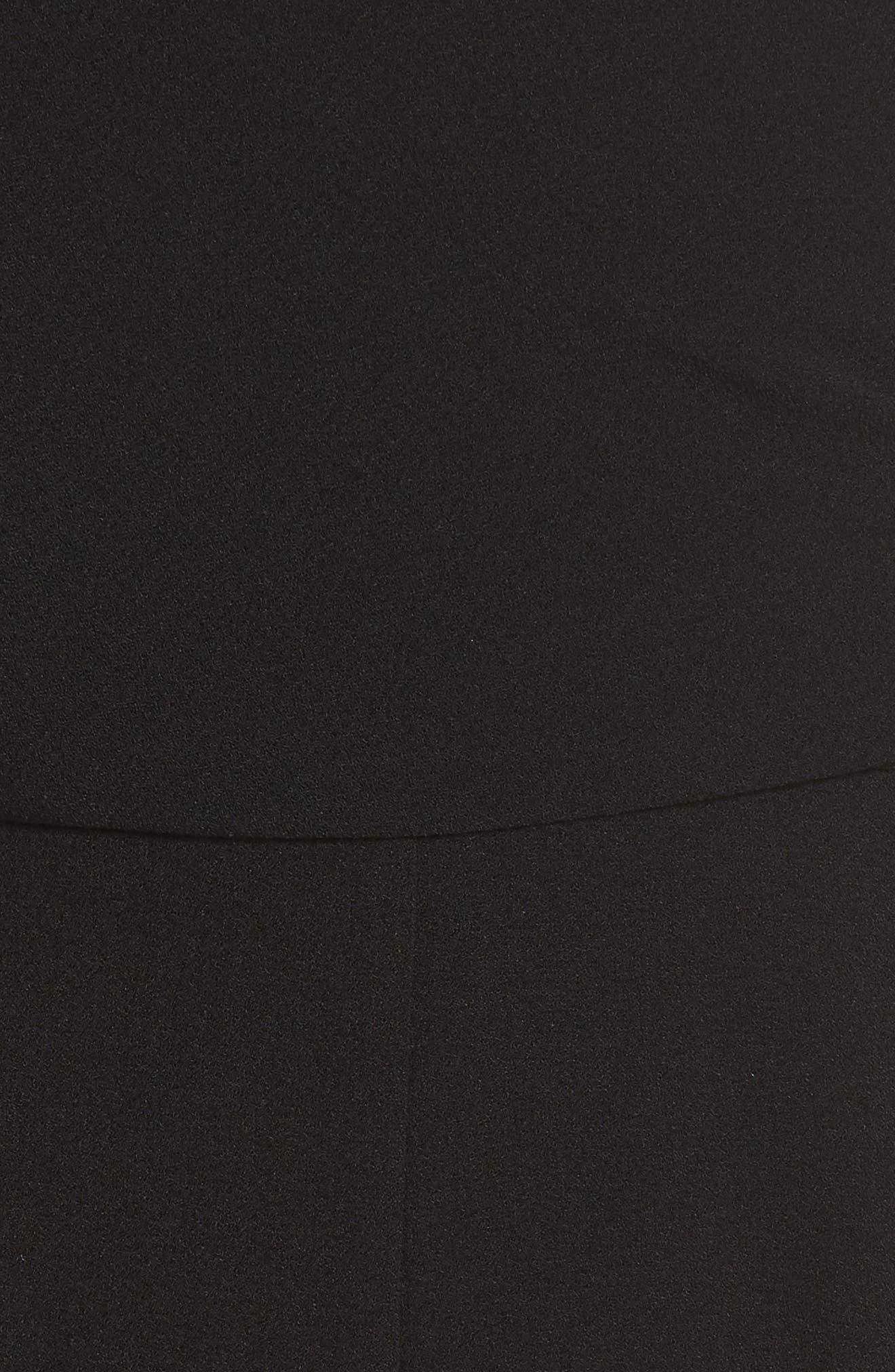 CHARLES HENRY, Faux Wrap Jumpsuit, Alternate thumbnail 6, color, 001