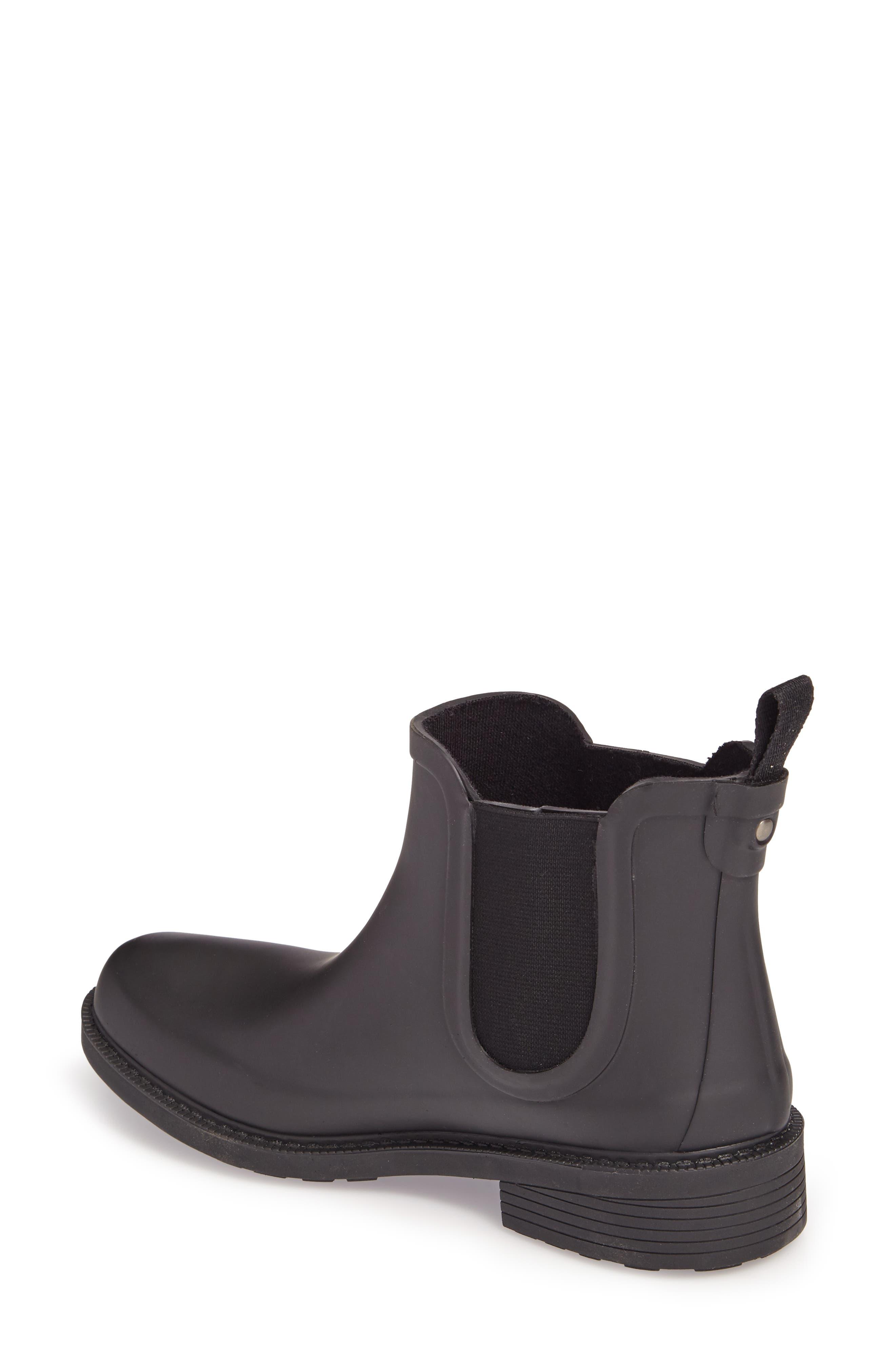 MADEWELL, The Chelsea Rain Boot, Alternate thumbnail 2, color, TRUE BLACK RUBBER