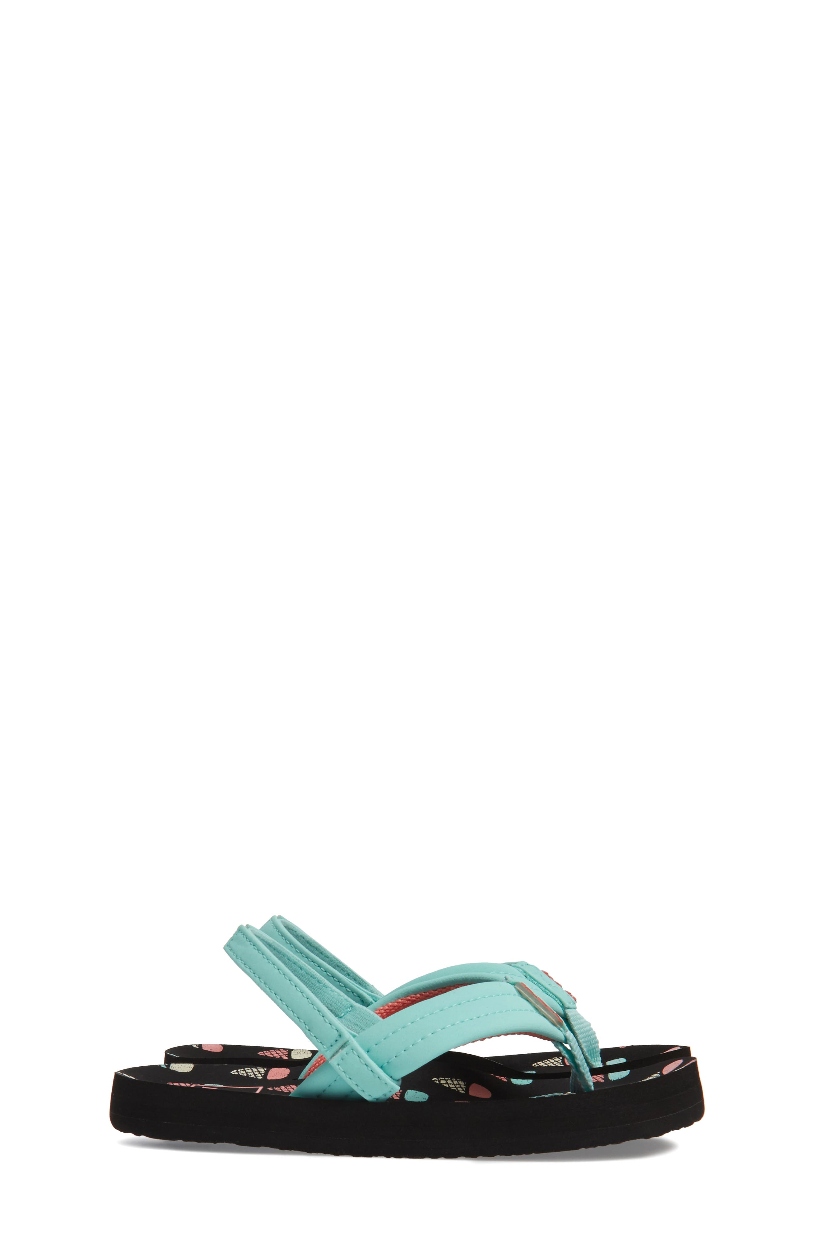 REEF, 'Little Ahi' Thong Sandal, Alternate thumbnail 4, color, ICE CREAM