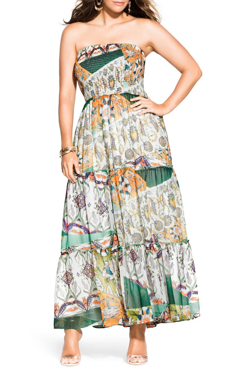 City Chic Dresses BILBAO STRAPLESS MAXI DRESS
