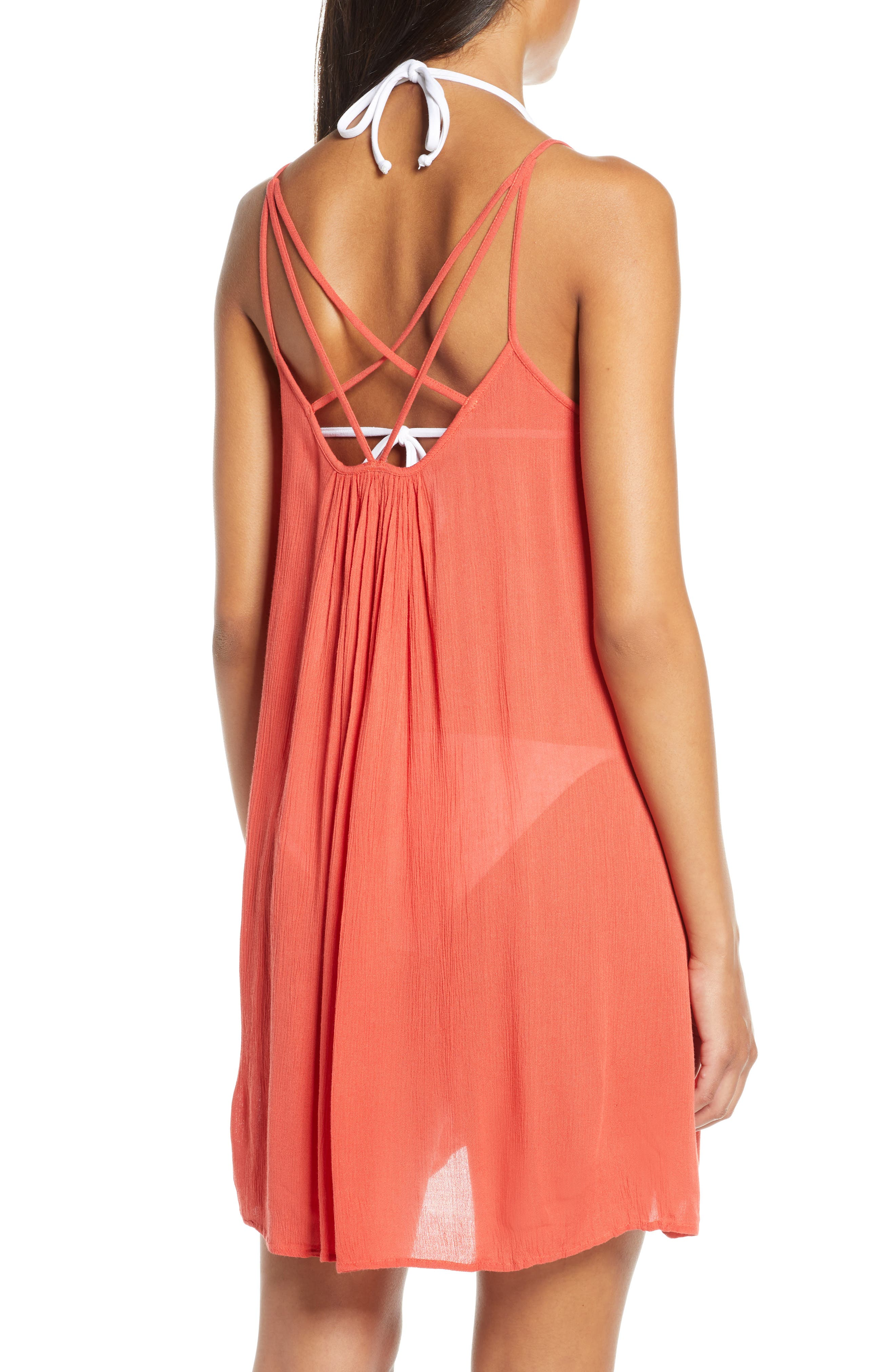 ELAN, Cover-Up Slipdress, Alternate thumbnail 2, color, CORAL