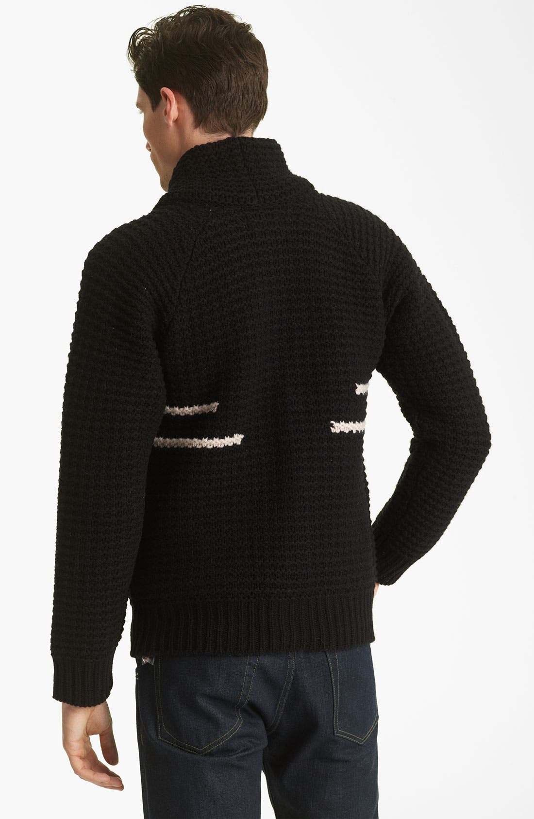 PENDLETON PORTLAND COLLECTION, 'Coos Curry' Lambswool Cardigan, Alternate thumbnail 3, color, 001