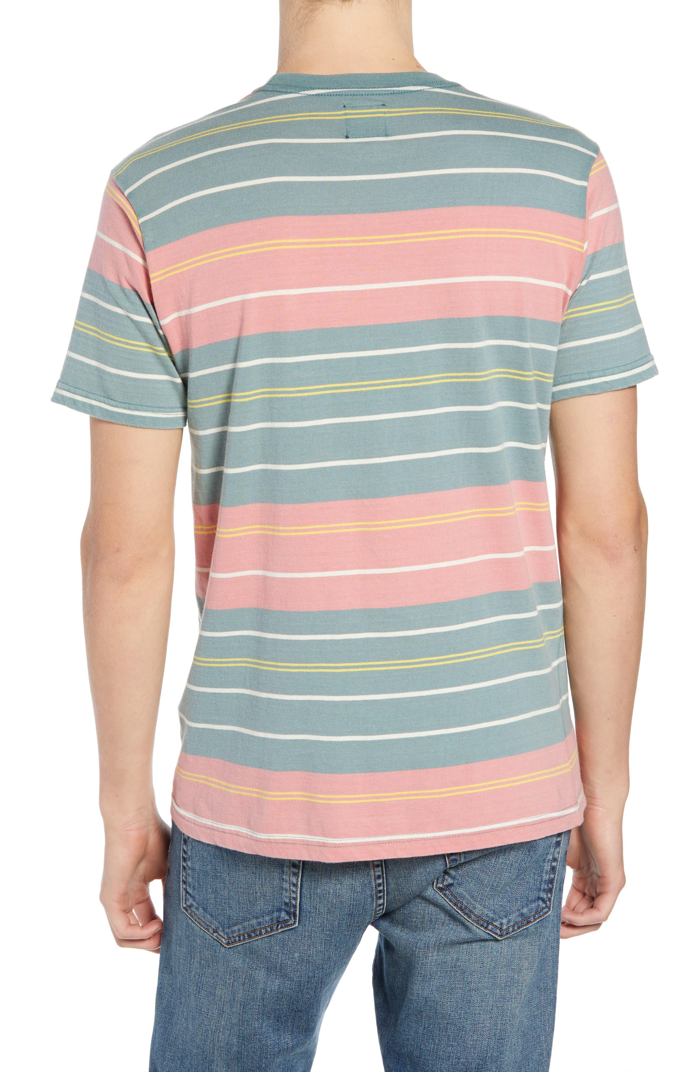 RVCA, Rusholme Stripe T-Shirt, Alternate thumbnail 2, color, PINE TREE
