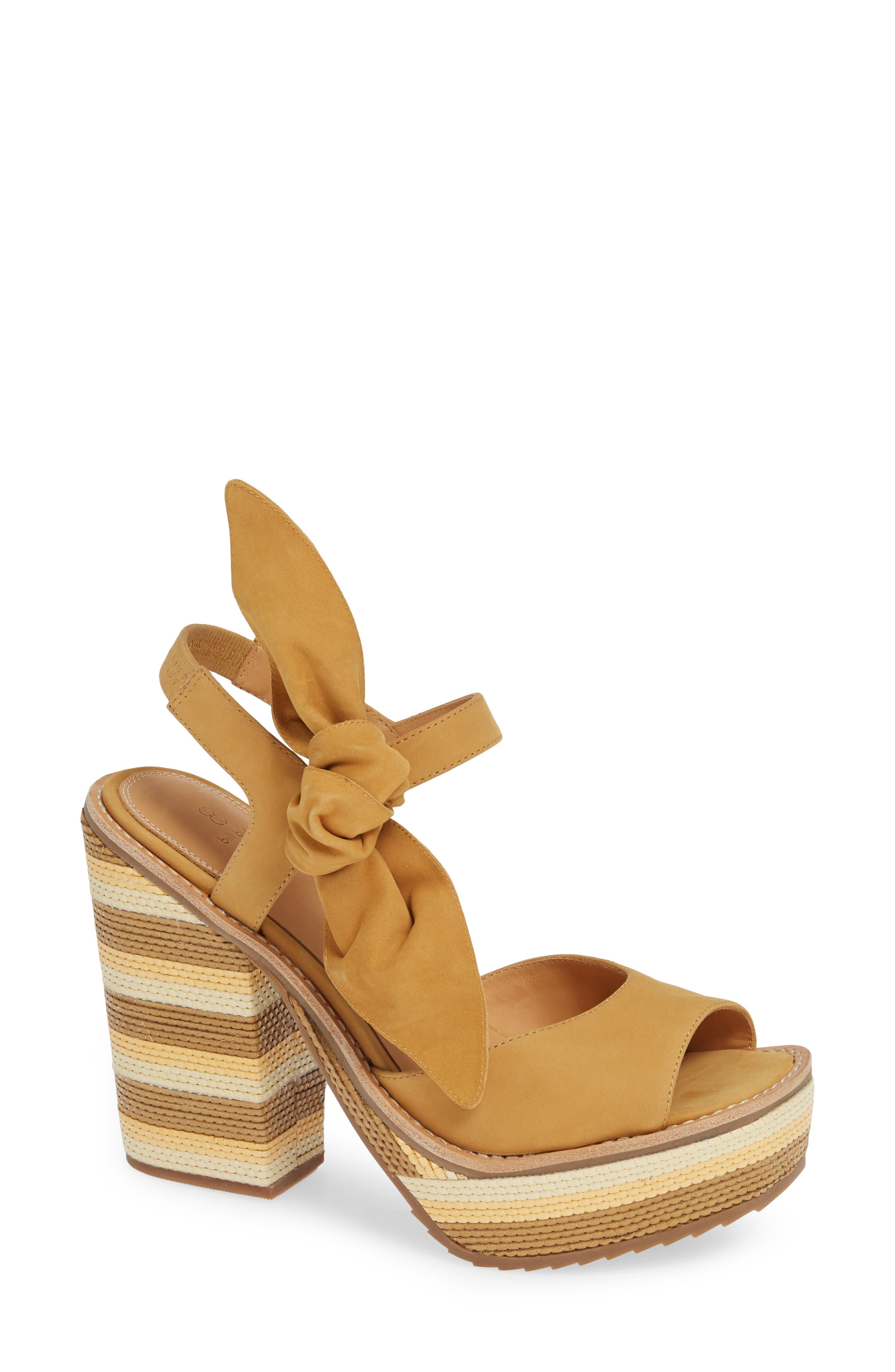 Bill Blass Bolton Platform Sandals, Brown