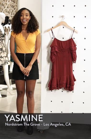 Up All Night Layered Cold Shoulder Dress, sales video thumbnail