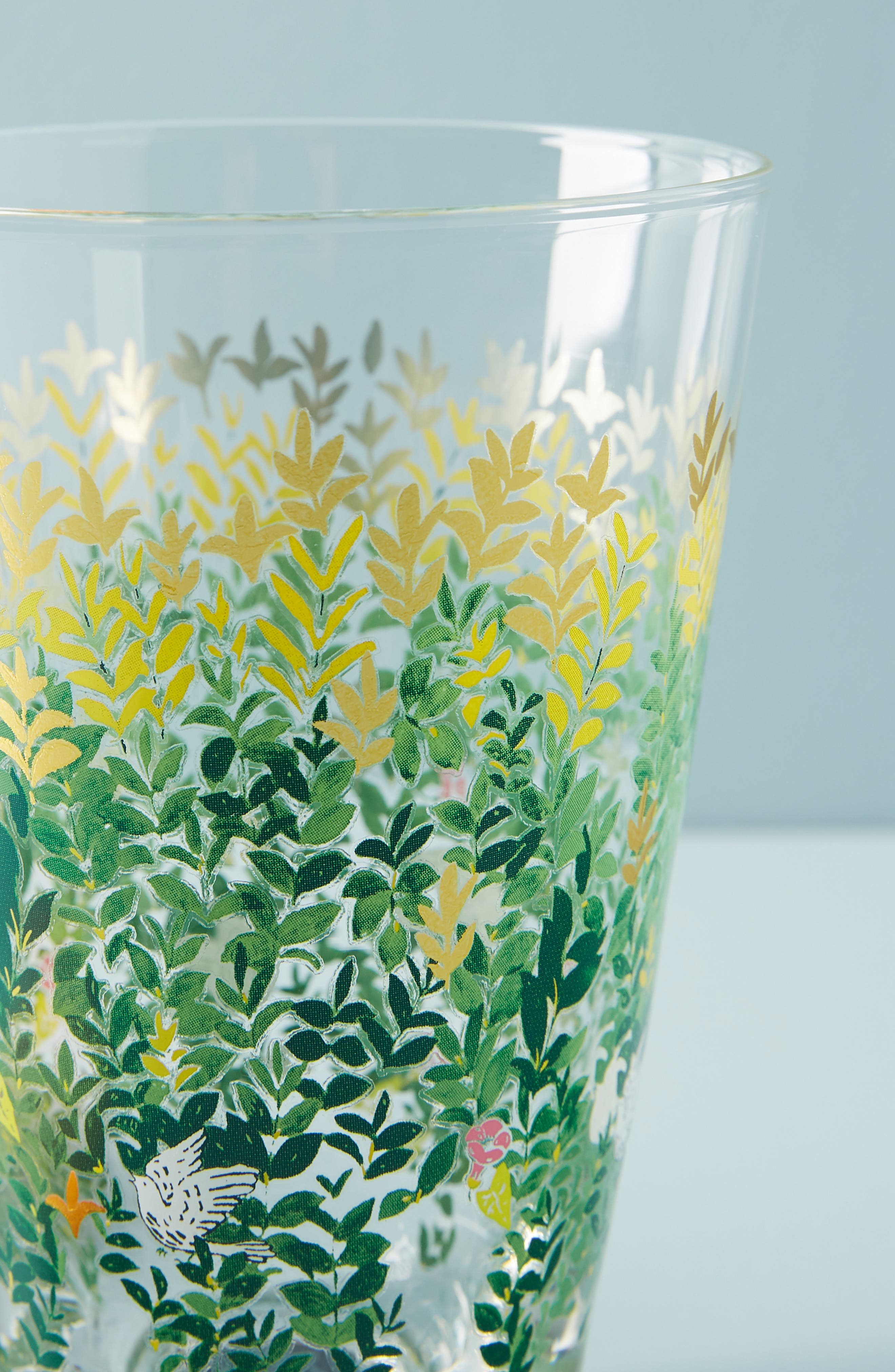 ANTHROPOLOGIE, Paule Marrot Juice Glass, Alternate thumbnail 3, color, CLEAR - LEAVES