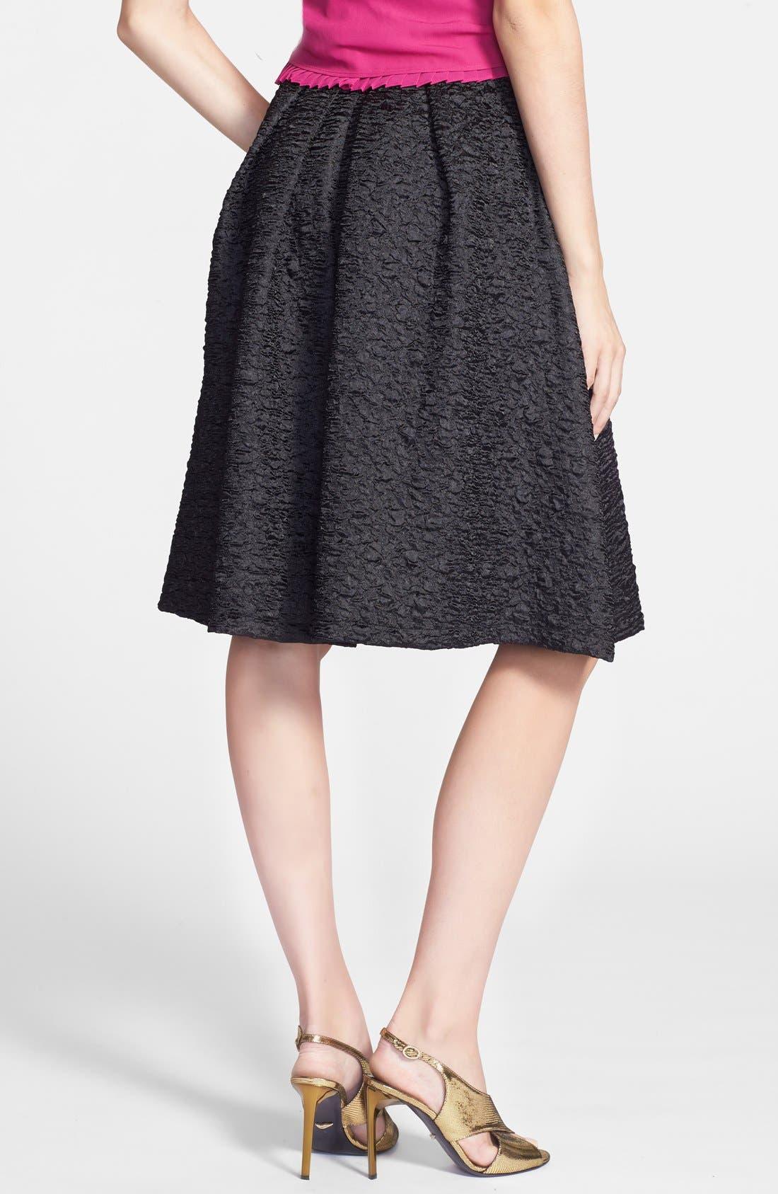 ASTR THE LABEL, ASTR Textured Pleat Skirt, Alternate thumbnail 2, color, 001