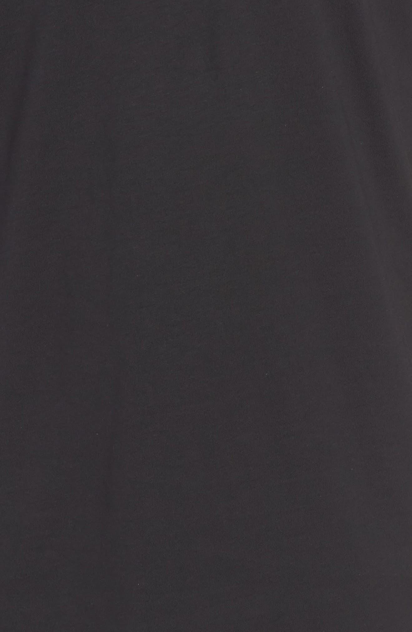 PSYCHO BUNNY, V-Neck T-Shirt, Alternate thumbnail 5, color, BLACK