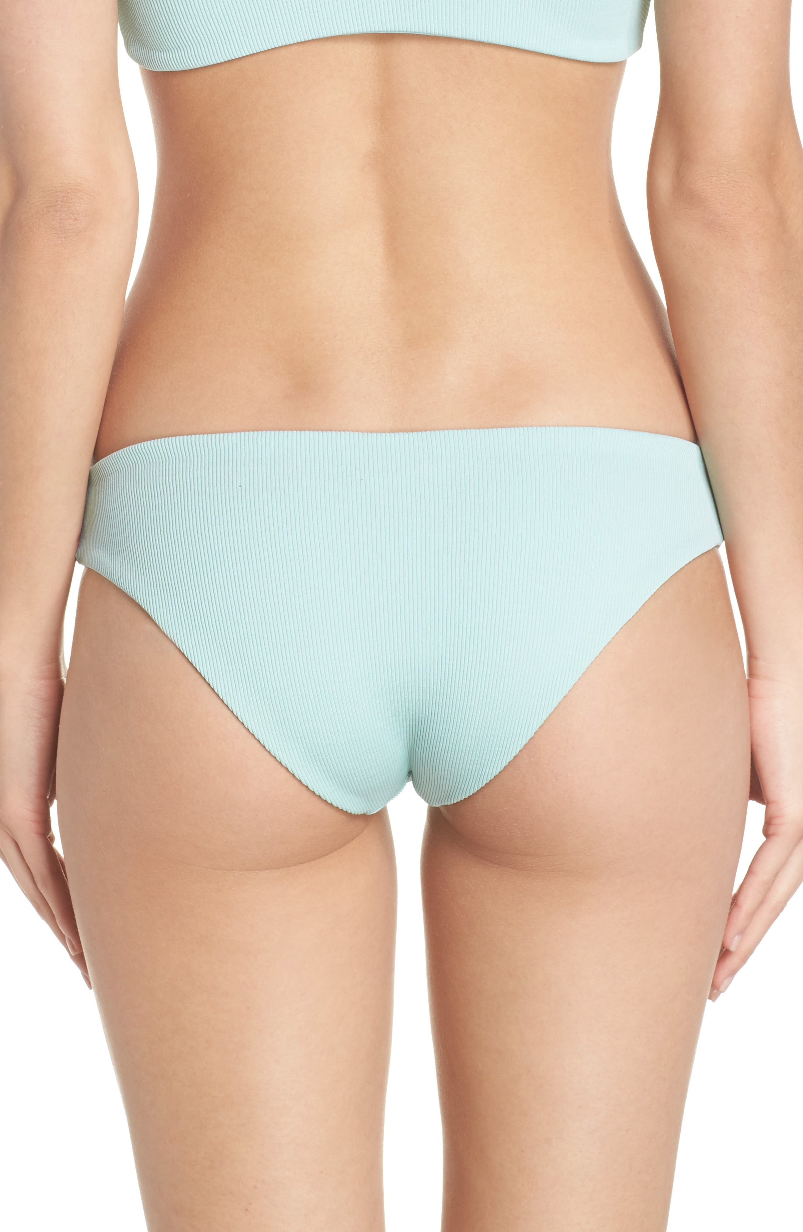 L SPACE, Sandy Bikini Bottoms, Alternate thumbnail 2, color, LIGHT TURQUOISE