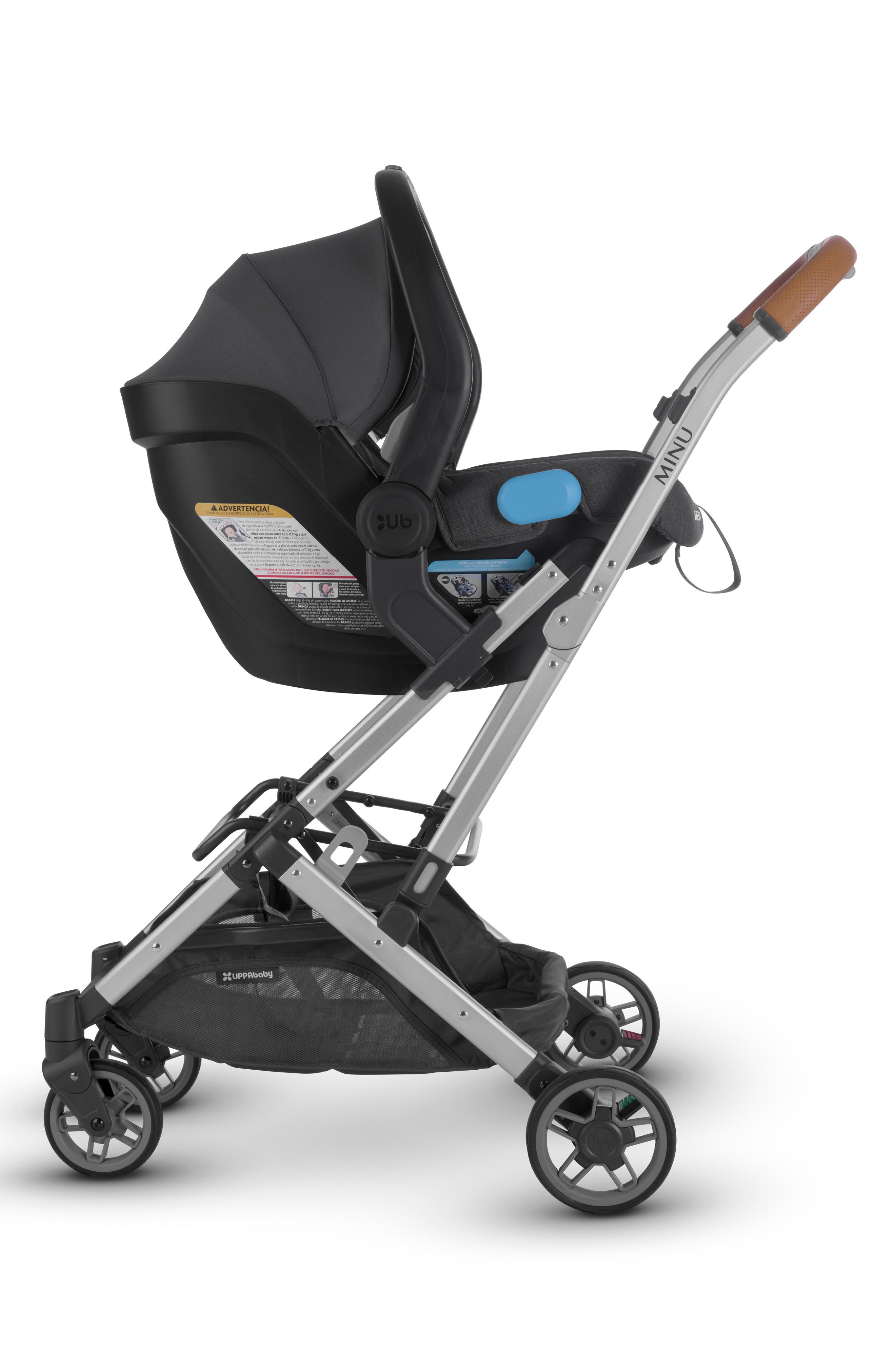 UPPABABY, Minu Stroller to MESA Infant Car Seat Adapter, Alternate thumbnail 3, color, BLACK